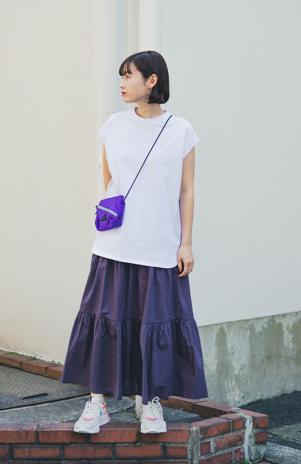 haco! 大人のTシャツこれならいける?!ちょい袖でかっこよく見せるTシャツ by que made me + PBP <ホワイト>の商品写真18