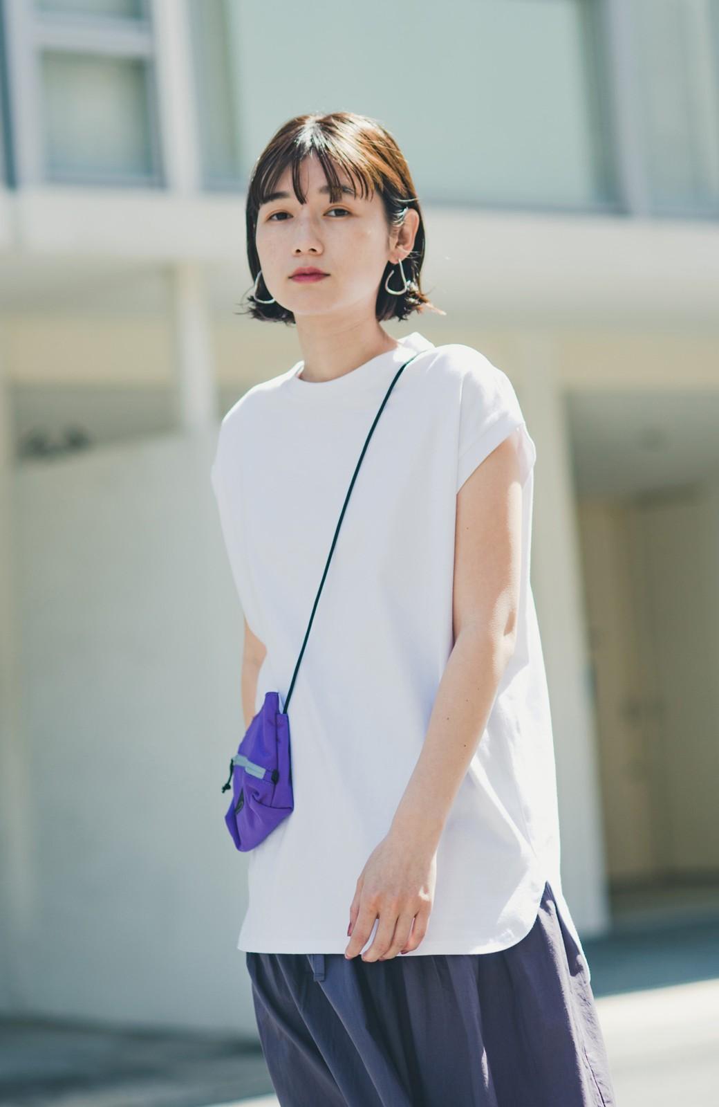 haco! 大人のTシャツこれならいける?!ちょい袖でかっこよく見せるTシャツ by que made me + PBP <ホワイト>の商品写真14