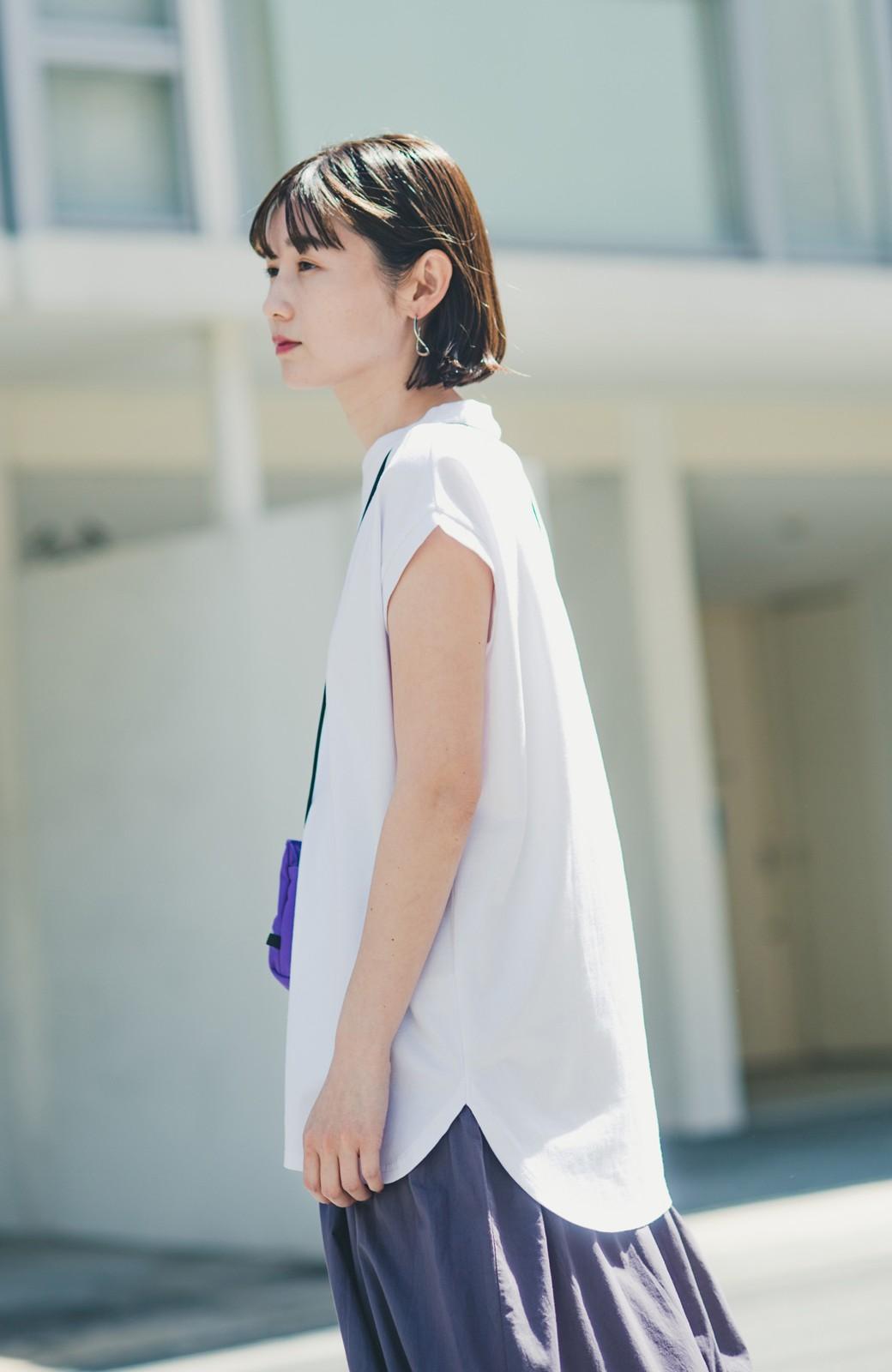 haco! 大人のTシャツこれならいける?!ちょい袖でかっこよく見せるTシャツ by que made me + PBP <ホワイト>の商品写真16
