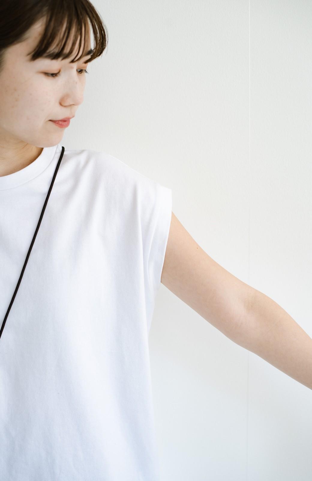 haco! 大人のTシャツこれならいける?!ちょい袖でかっこよく見せるTシャツ by que made me + PBP <ホワイト>の商品写真7