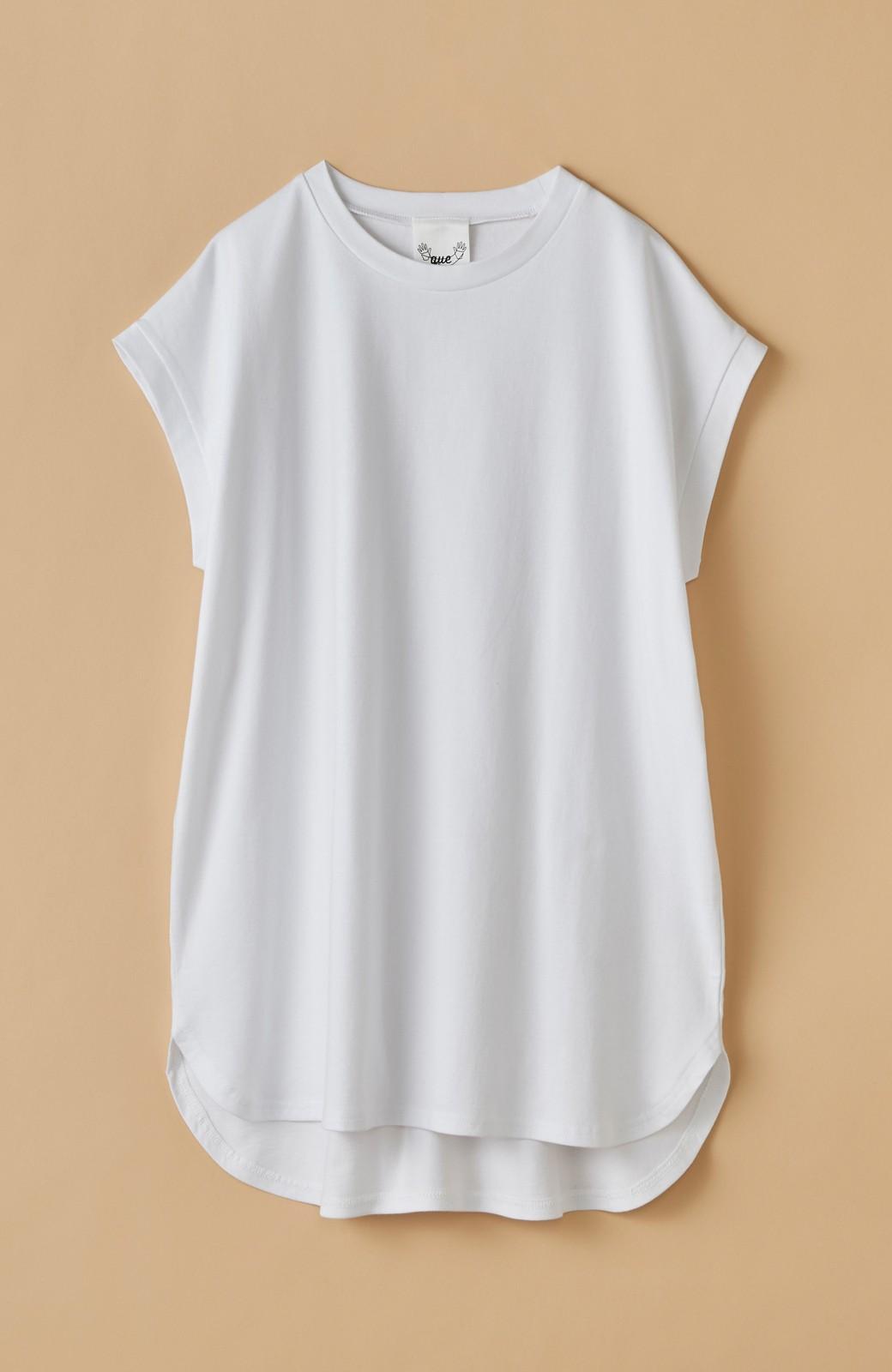 haco! 大人のTシャツこれならいける?!ちょい袖でかっこよく見せるTシャツ by que made me + PBP <ホワイト>の商品写真22