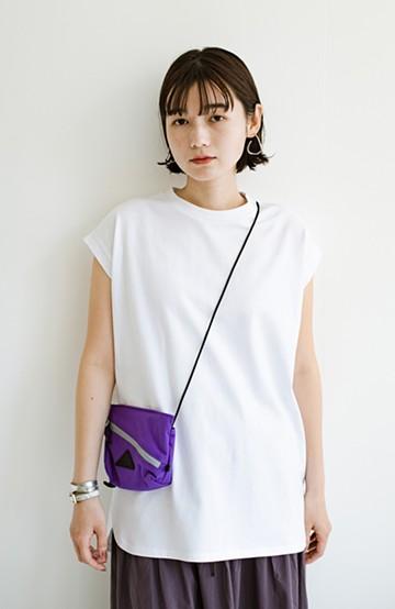 haco! 大人のTシャツこれならいける?!ちょい袖でかっこよく見せるTシャツ by que made me + PBP<ホワイト>の商品写真
