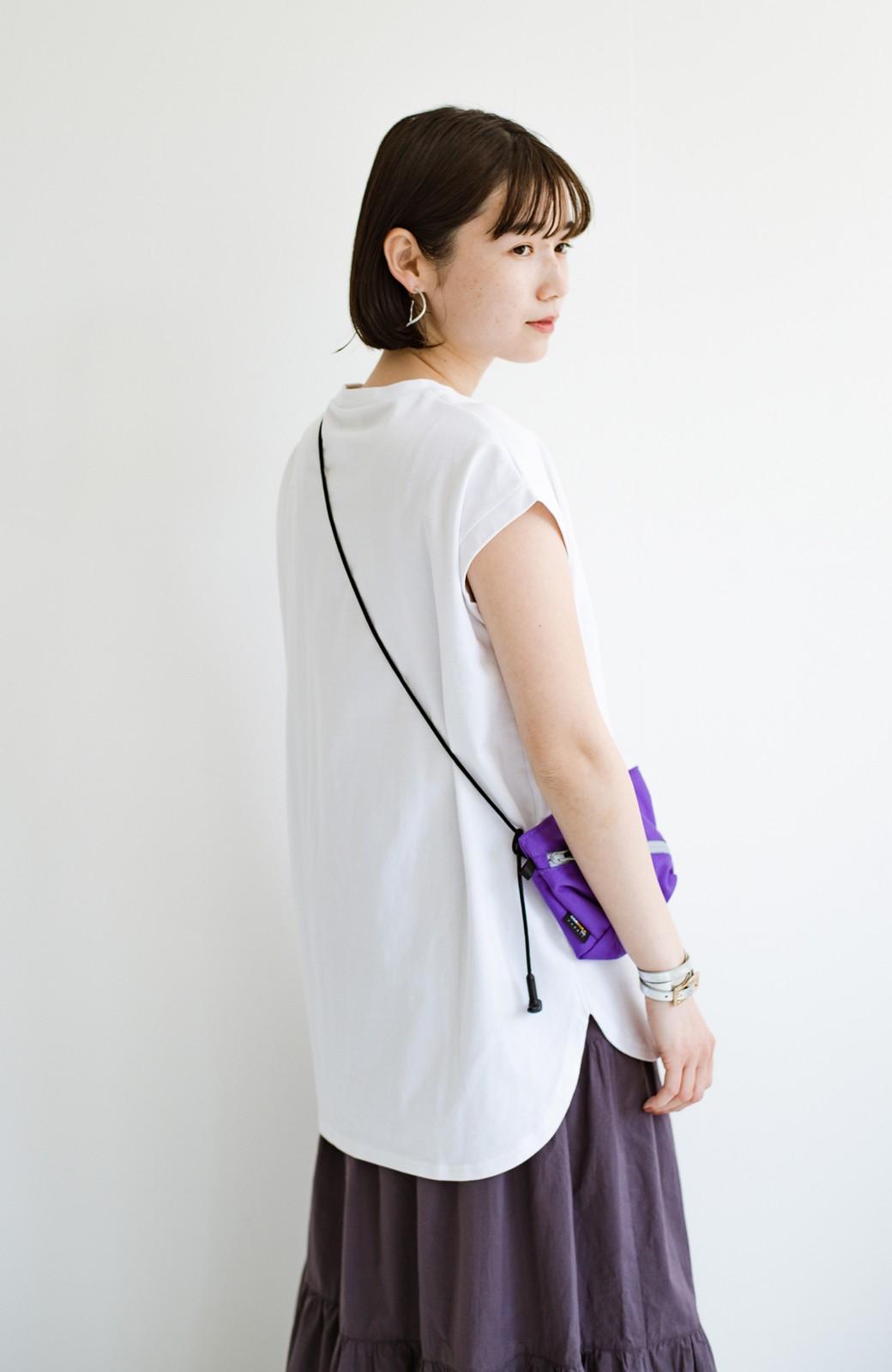 haco! 大人のTシャツこれならいける?!ちょい袖でかっこよく見せるTシャツ by que made me + PBP <ホワイト>の商品写真5