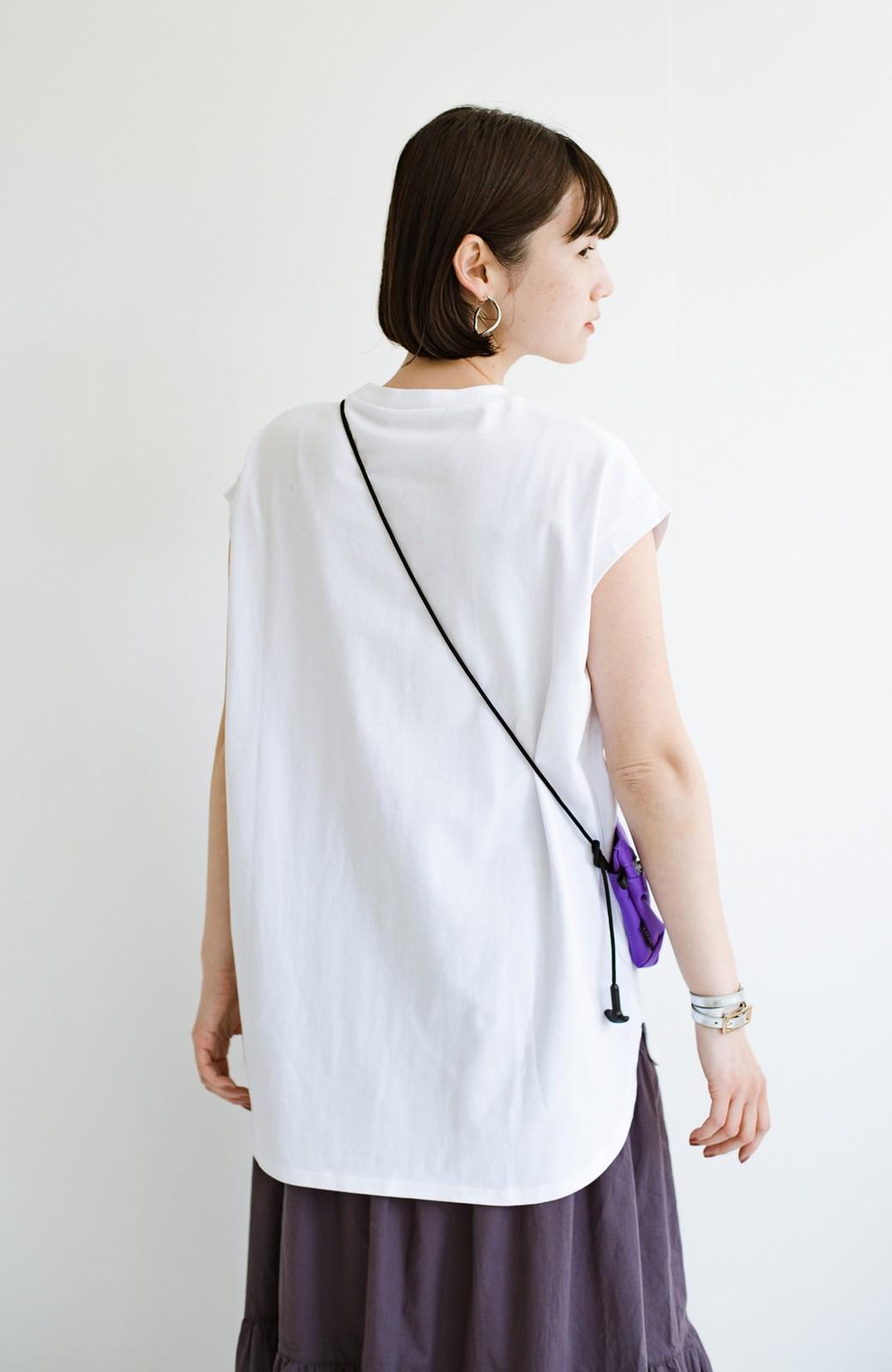 haco! 大人のTシャツこれならいける?!ちょい袖でかっこよく見せるTシャツ by que made me + PBP <ホワイト>の商品写真6