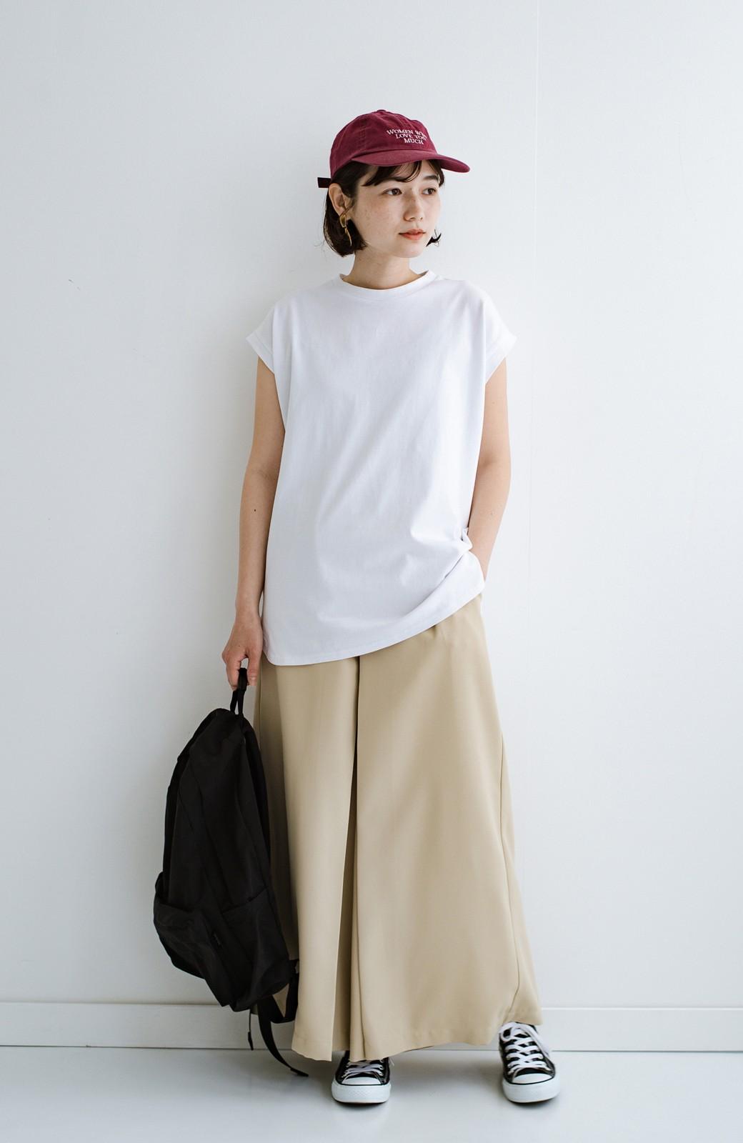haco! 大人のTシャツこれならいける?!ちょい袖でかっこよく見せるTシャツ by que made me + PBP <ホワイト>の商品写真3
