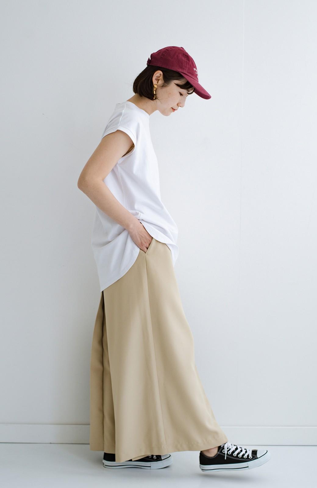 haco! 大人のTシャツこれならいける?!ちょい袖でかっこよく見せるTシャツ by que made me + PBP <ホワイト>の商品写真4
