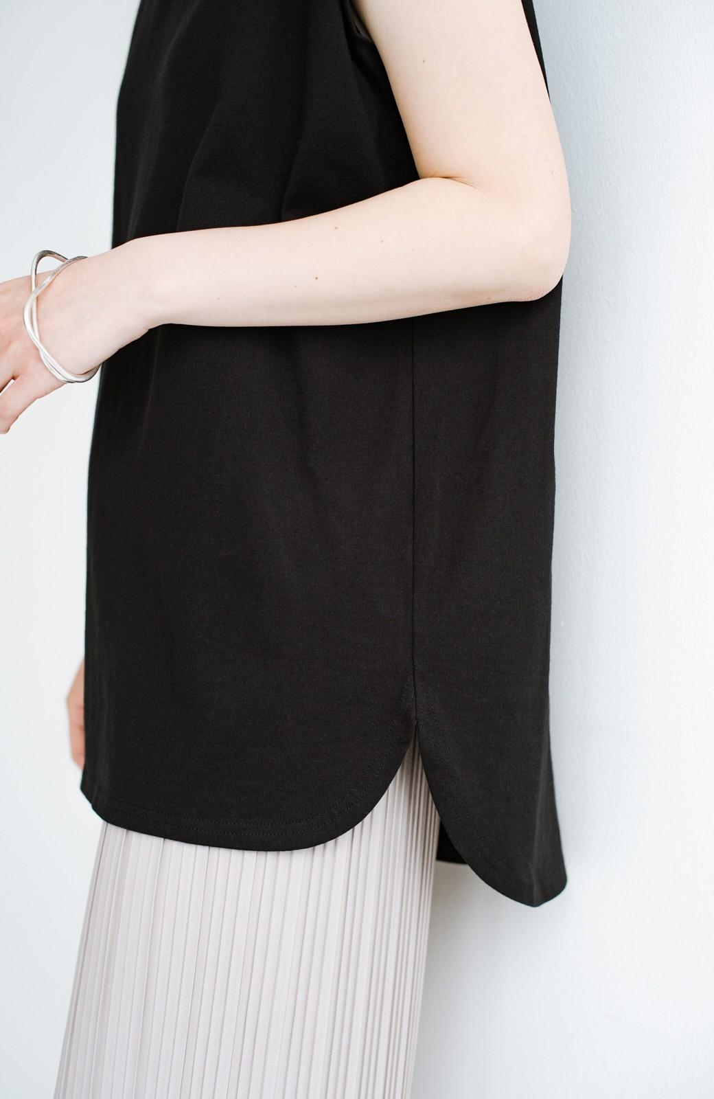 haco! 大人のTシャツこれならいける?!ちょい袖でかっこよく見せるTシャツ by que made me + PBP <ブラック>の商品写真5