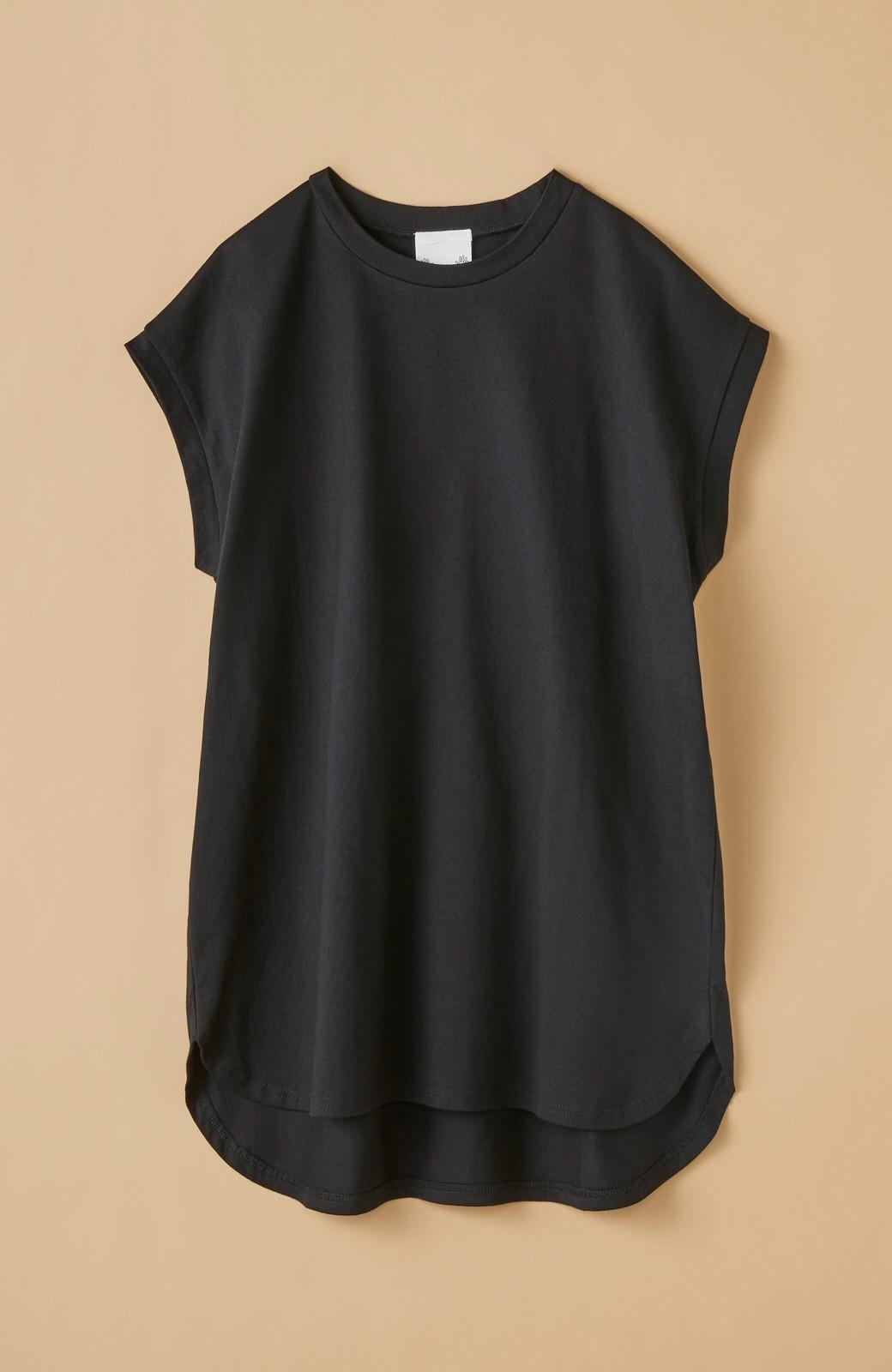 haco! 大人のTシャツこれならいける?!ちょい袖でかっこよく見せるTシャツ by que made me + PBP <ブラック>の商品写真19