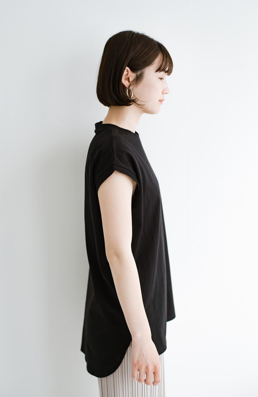 haco! 大人のTシャツこれならいける?!ちょい袖でかっこよく見せるTシャツ by que made me + PBP <ブラック>の商品写真16