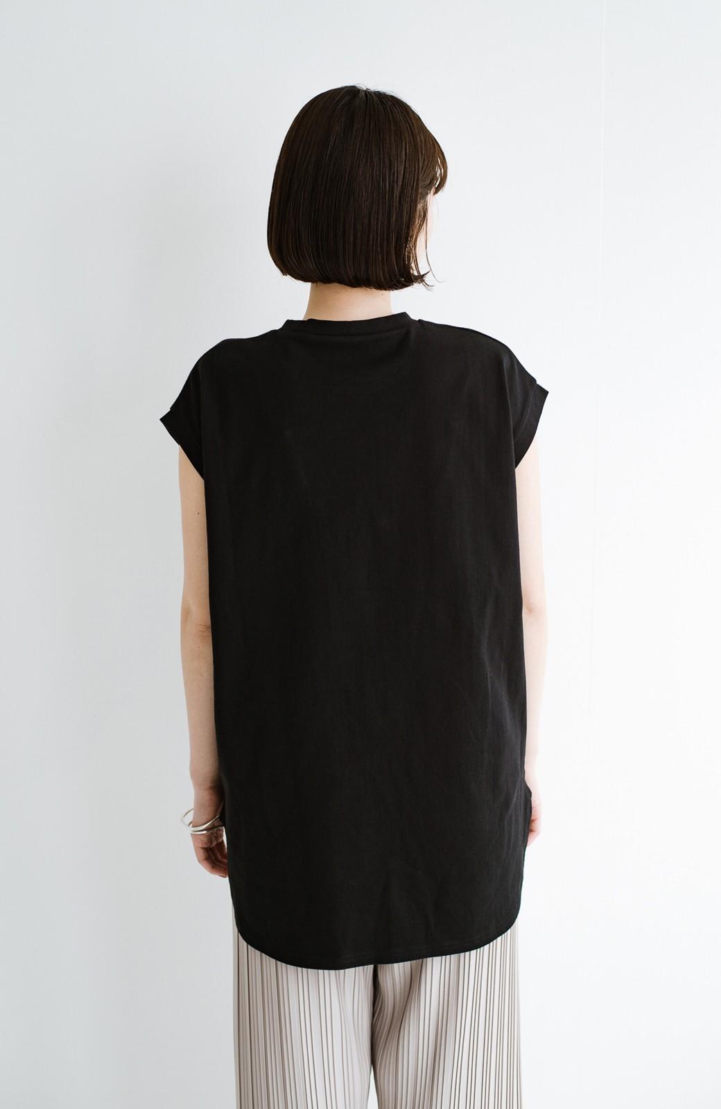 haco! 大人のTシャツこれならいける?!ちょい袖でかっこよく見せるTシャツ by que made me + PBP <ブラック>の商品写真17
