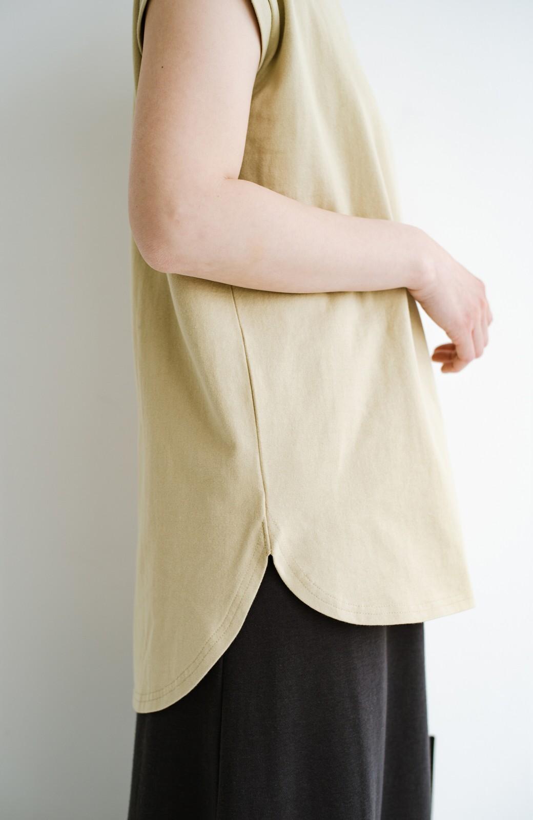 haco! 大人のTシャツこれならいける?!ちょい袖でかっこよく見せるTシャツ by que made me + PBP <ベージュ>の商品写真5