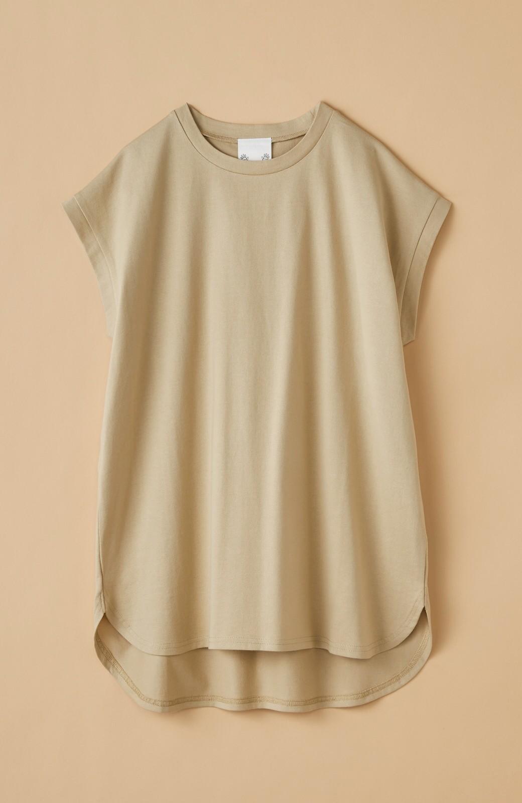 haco! 大人のTシャツこれならいける?!ちょい袖でかっこよく見せるTシャツ by que made me + PBP <ベージュ>の商品写真15