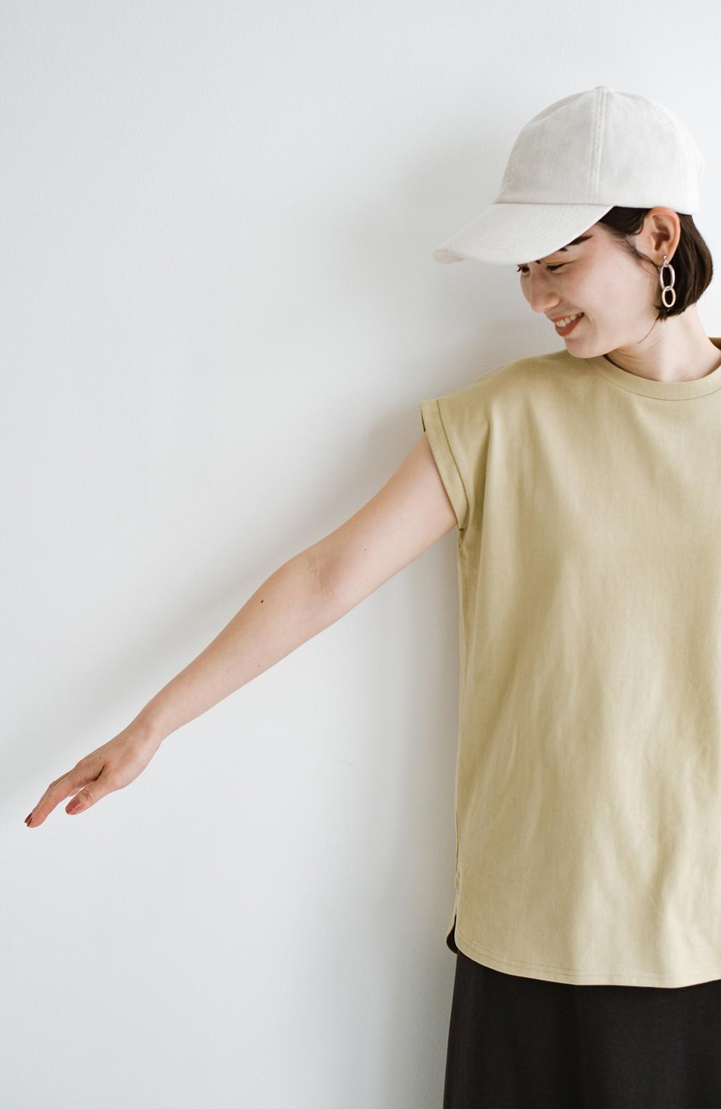 haco! 大人のTシャツこれならいける?!ちょい袖でかっこよく見せるTシャツ by que made me + PBP <ベージュ>の商品写真11