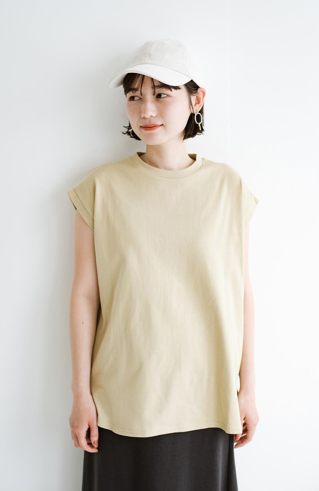 haco! 大人のTシャツこれならいける?!ちょい袖でかっこよく見せるTシャツ by que made me + PBP <ベージュ>の商品写真12