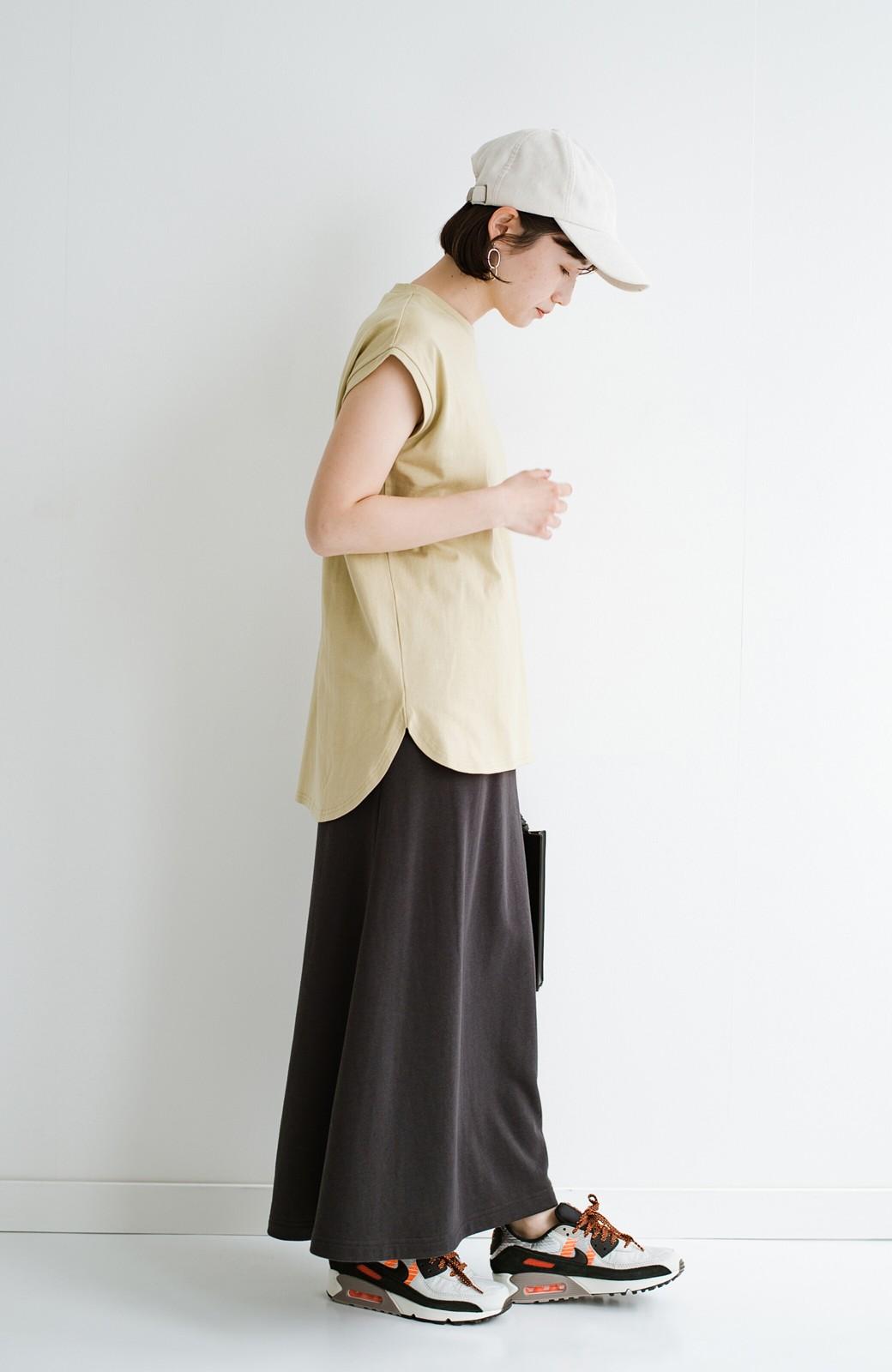 haco! 大人のTシャツこれならいける?!ちょい袖でかっこよく見せるTシャツ by que made me + PBP <ベージュ>の商品写真8