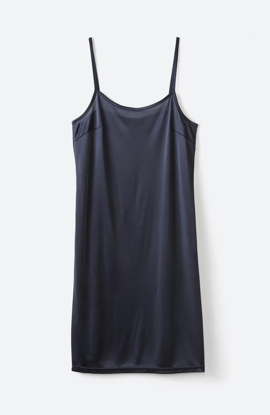 haco! 1枚でも羽織っても様になるベルト付きワンピースとインナーキャミワンピースセット <ブラック>の商品写真3