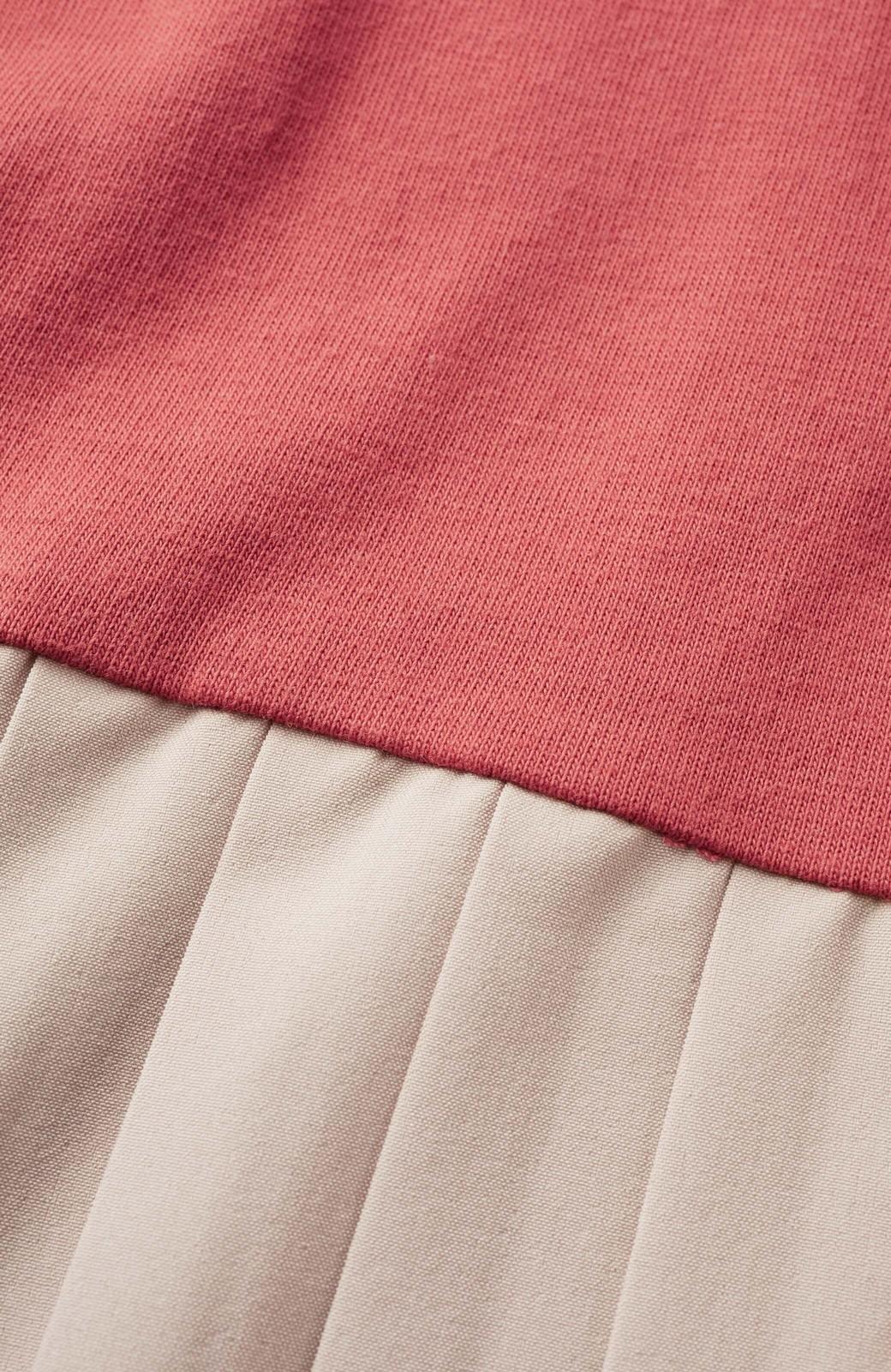 haco! ぱっと着るだけでこなれたレイヤード風コーデが完成する サイドプリーツワンピース <テラコッタ>の商品写真3
