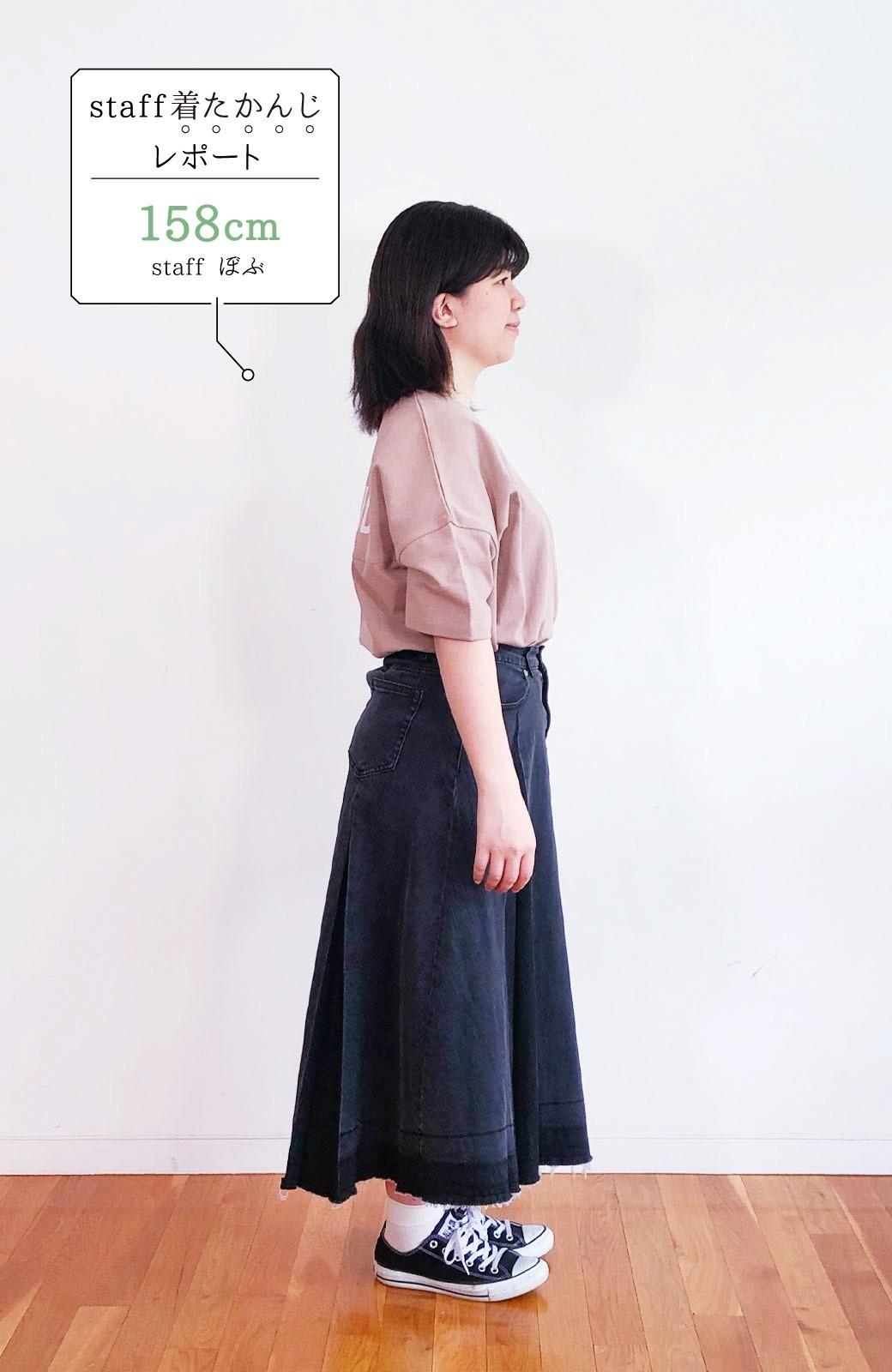 haco! 【新色登場&再入荷!】デニムパネルプリーツスカート <ブラック>の商品写真32