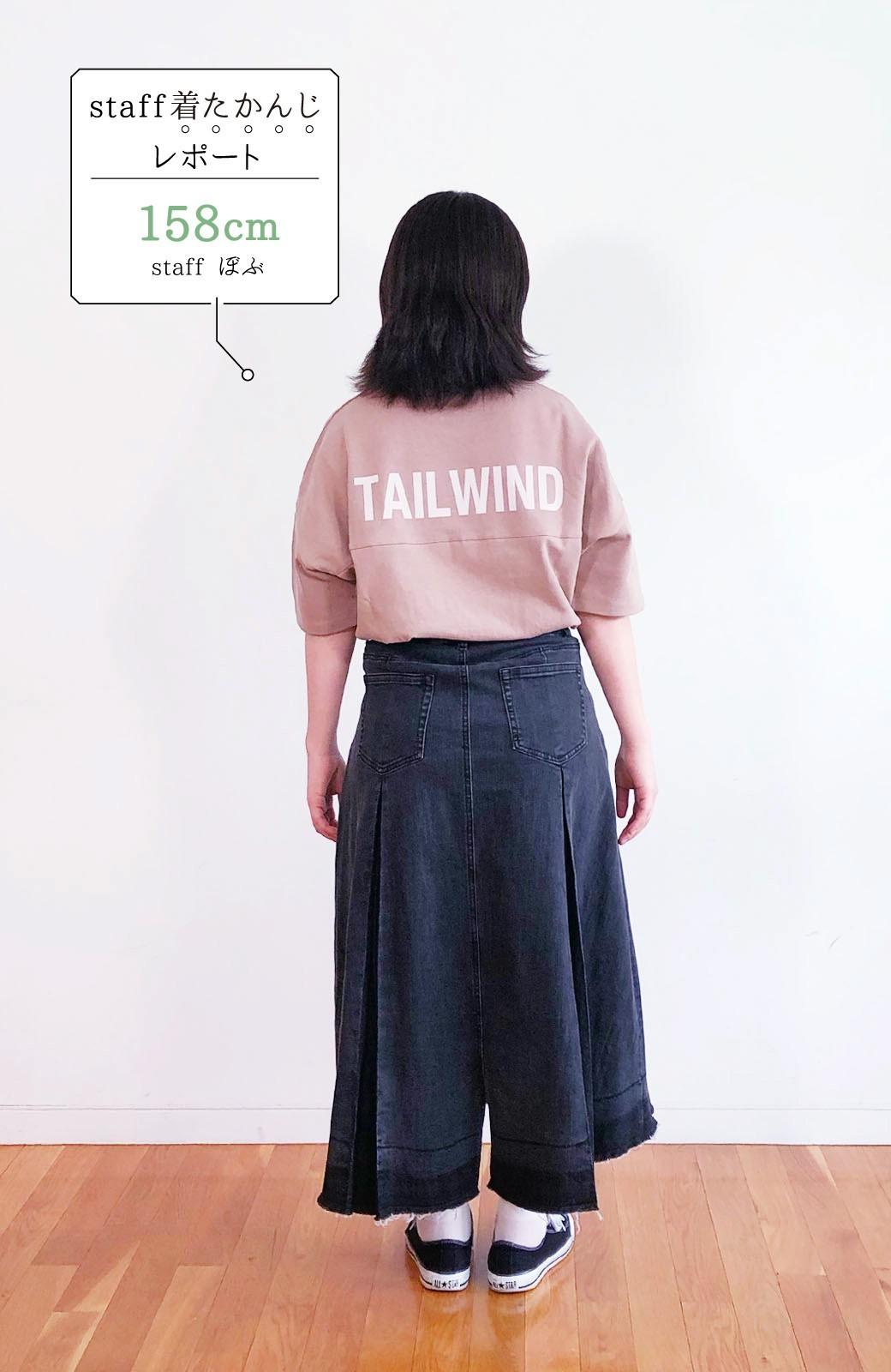 haco! 【新色登場&再入荷!】デニムパネルプリーツスカート <ブラック>の商品写真33