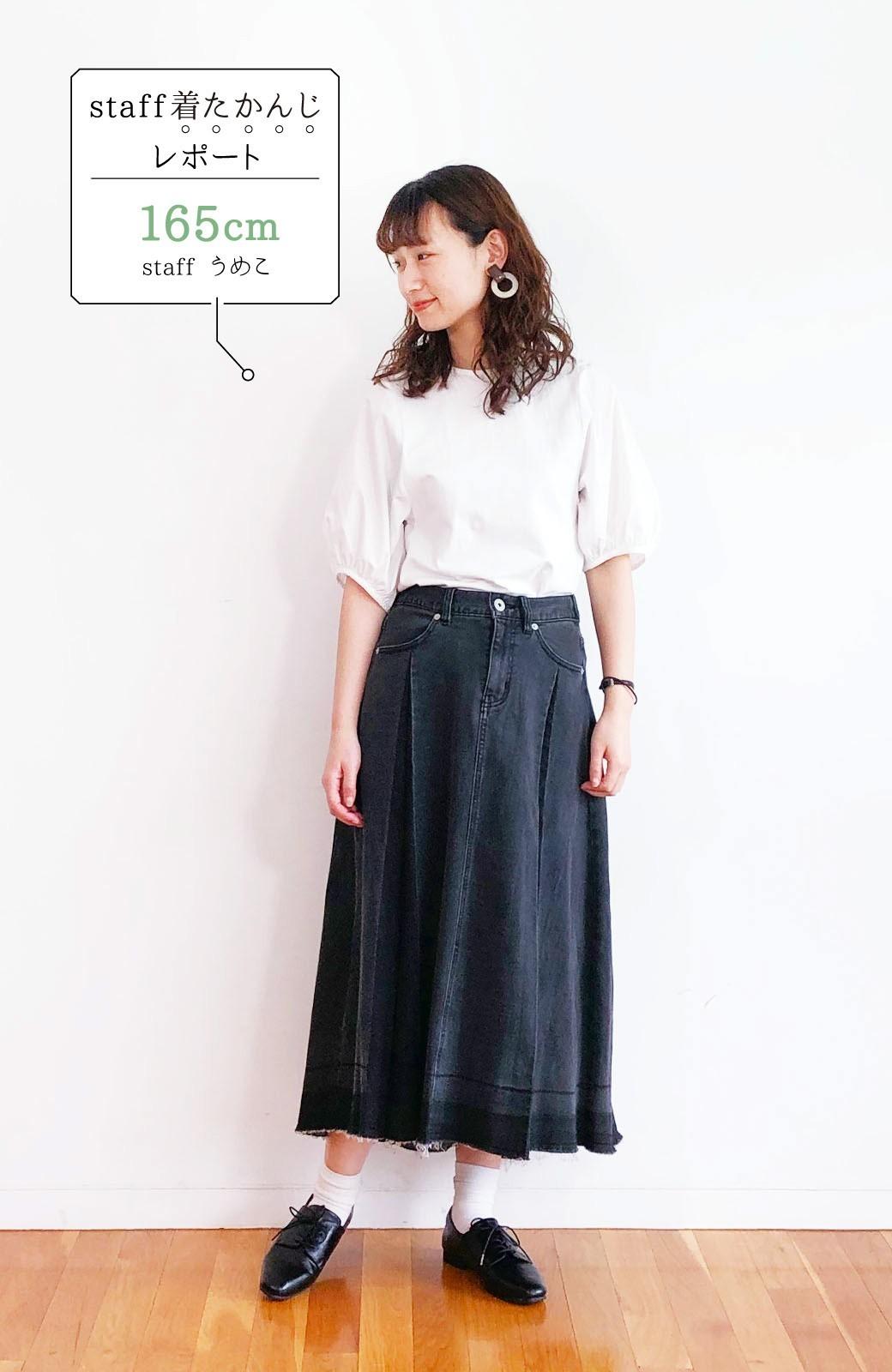 haco! 【新色登場&再入荷!】デニムパネルプリーツスカート <ブラック>の商品写真34