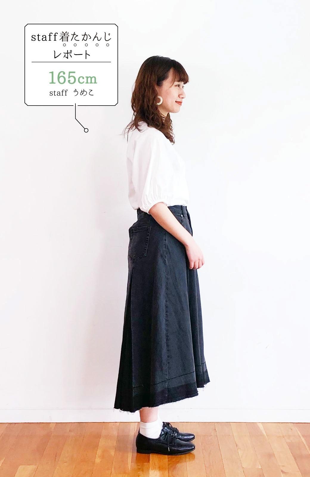 haco! 【新色登場&再入荷!】デニムパネルプリーツスカート <ブラック>の商品写真35