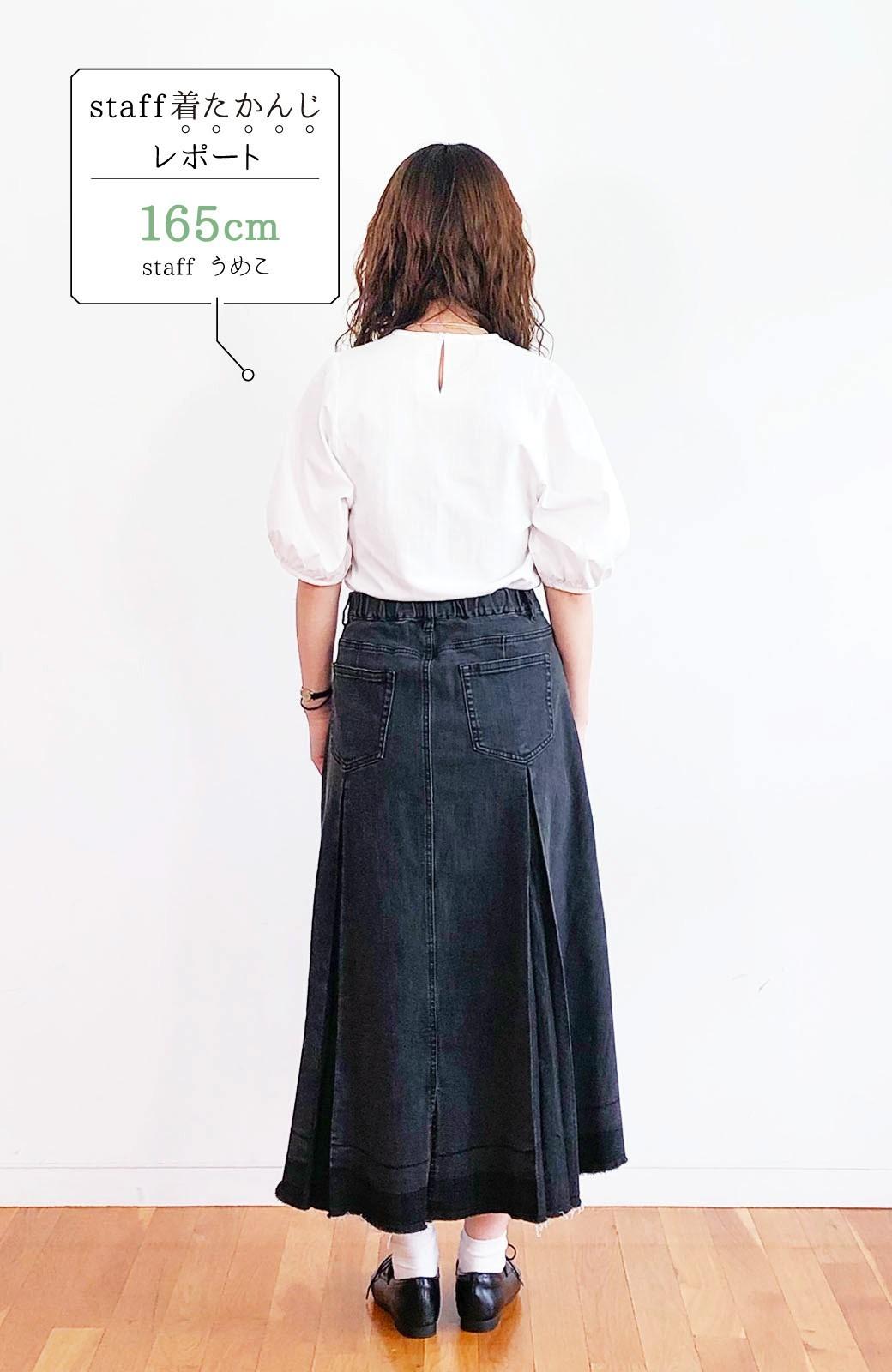 haco! 【新色登場&再入荷!】デニムパネルプリーツスカート <ブラック>の商品写真36