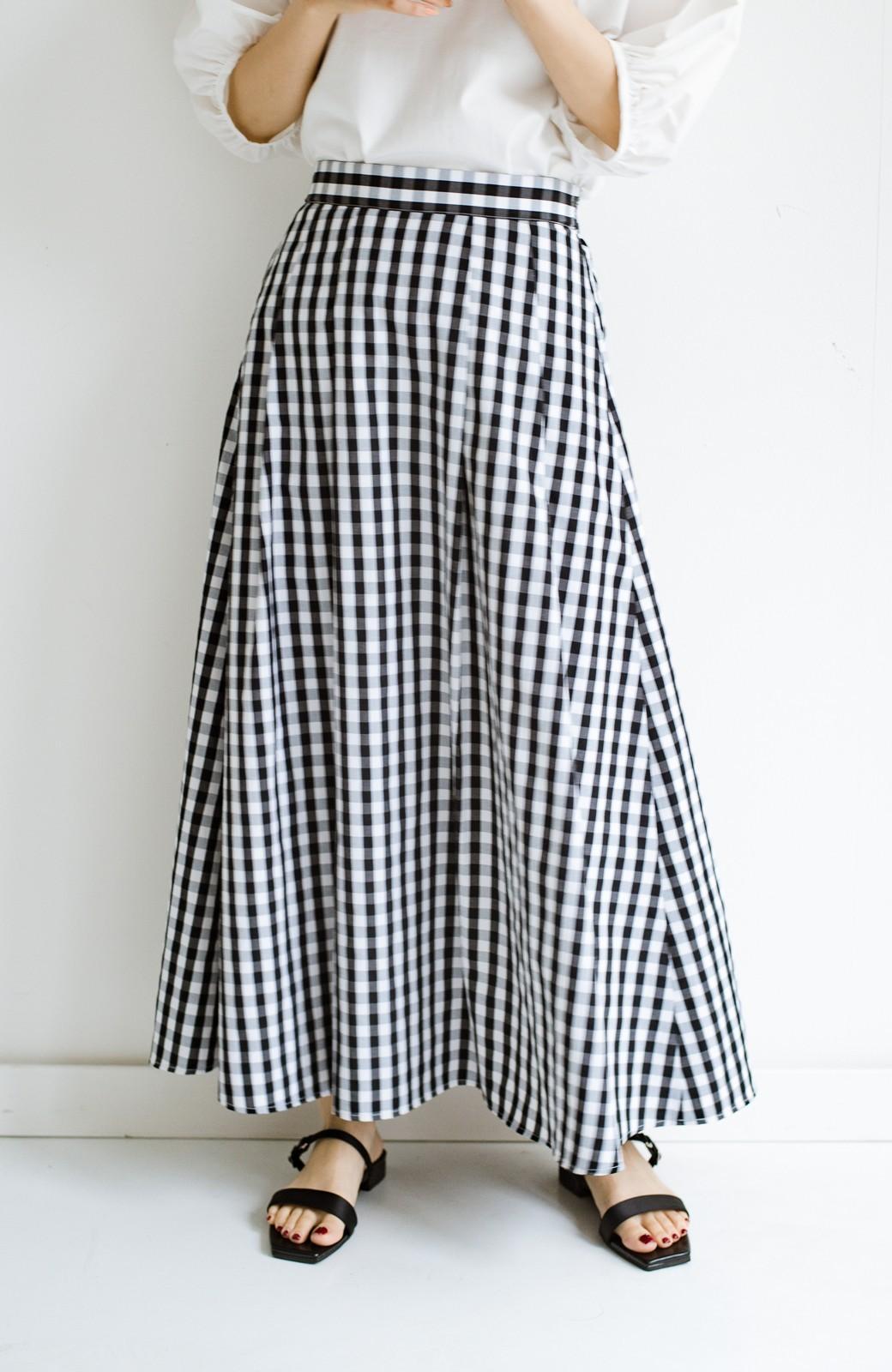 haco! カジュアルトップスと合わせても女っぽがかなう!気になる何もかもを隠してくれるマキシスカート by que made me <チェック>の商品写真5