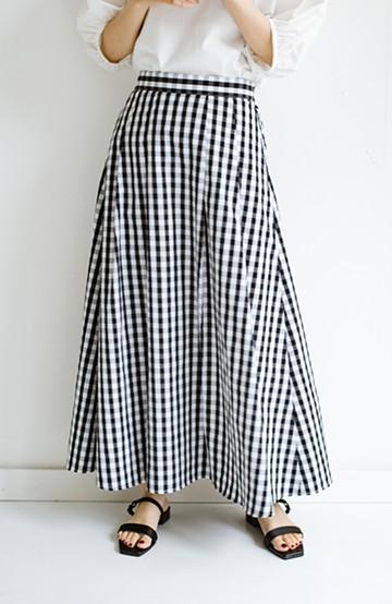 haco! カジュアルトップスと合わせても女っぽがかなう!気になる何もかもを隠してくれるマキシスカート by que made me <チェック>の商品写真