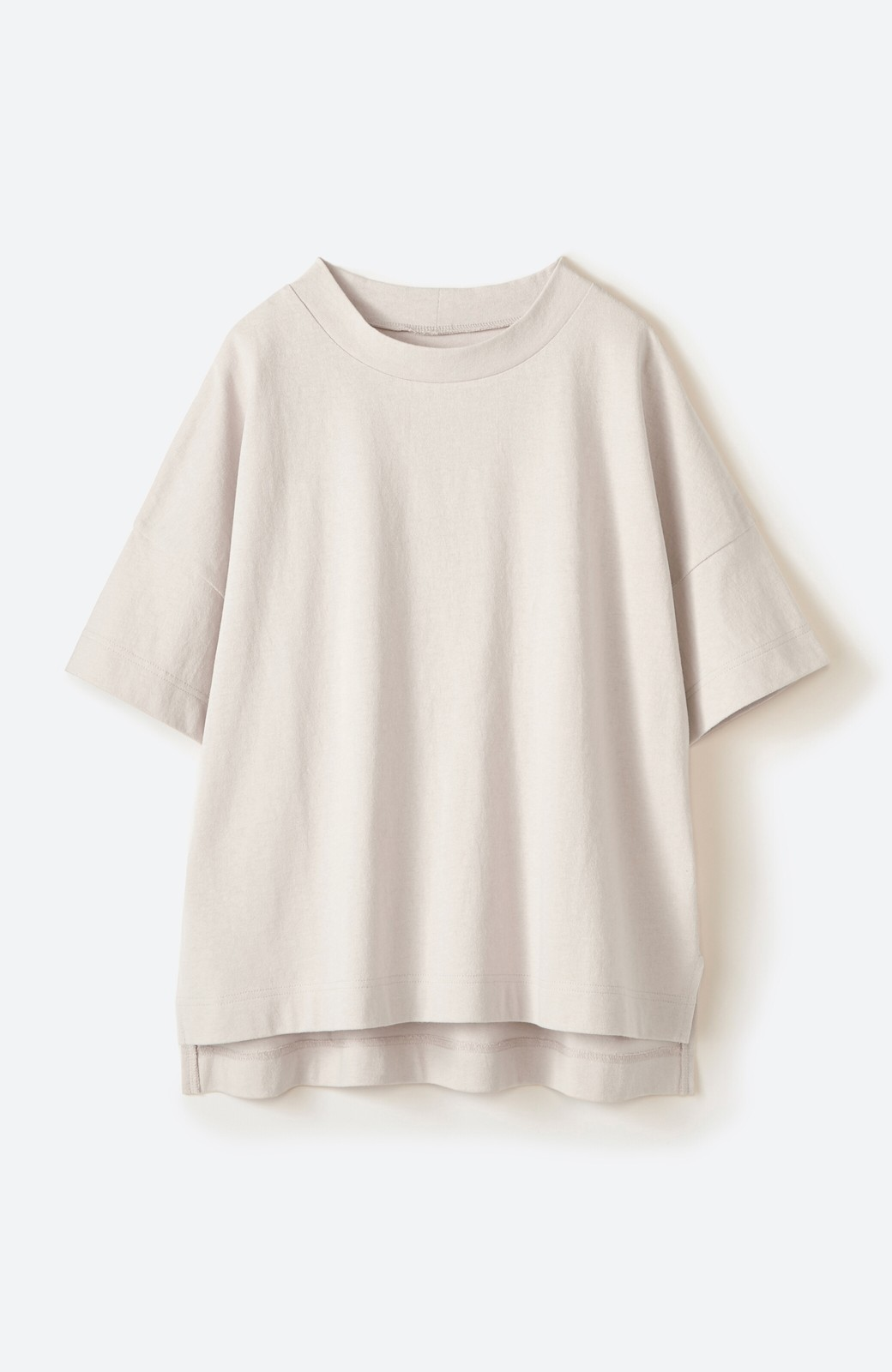 haco! じゃぶじゃぶ洗えて毎日づかいに便利!コーデに迷わず便利なモックネックTシャツ <ベージュ>の商品写真17