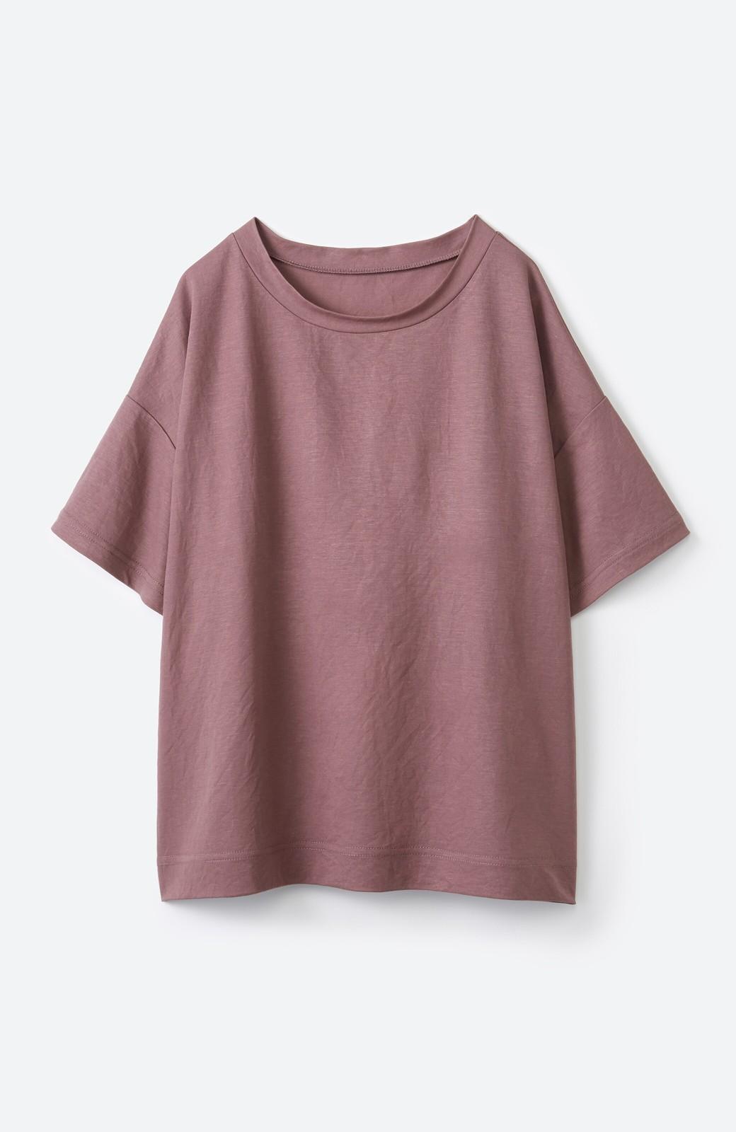 haco! カジュアル&きれいめバランスがちょうどいい!さらりと心地いい大人Tシャツ <スモークピンク>の商品写真14