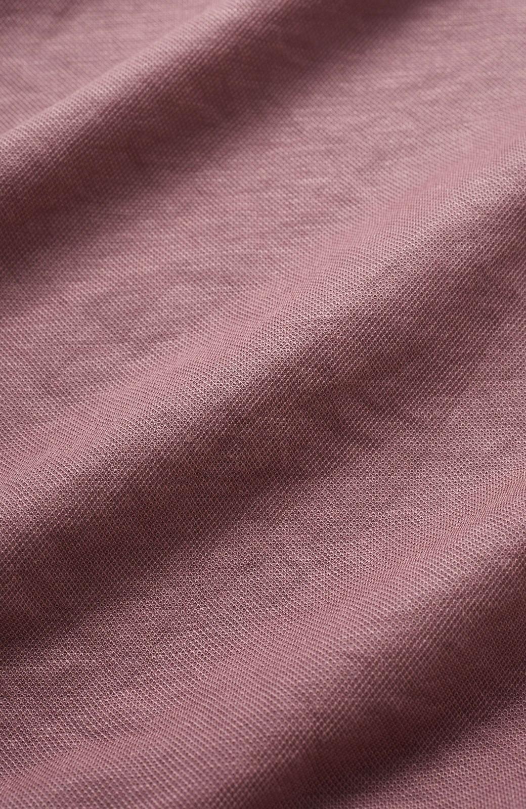haco! カジュアル&きれいめバランスがちょうどいい!さらりと心地いい大人Tシャツ <スモークピンク>の商品写真4