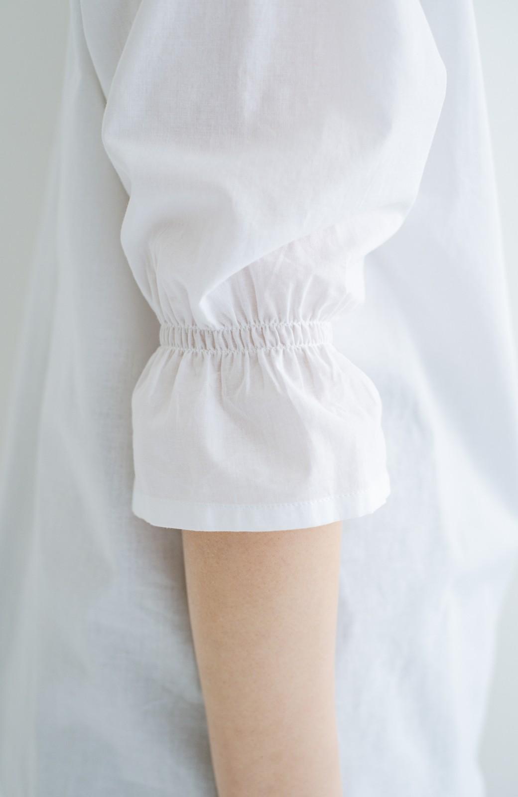 haco! (φ)甘さ控えめで照れずに着られる 今っぽおしゃれなビッグカラーブラウス <ホワイト>の商品写真10