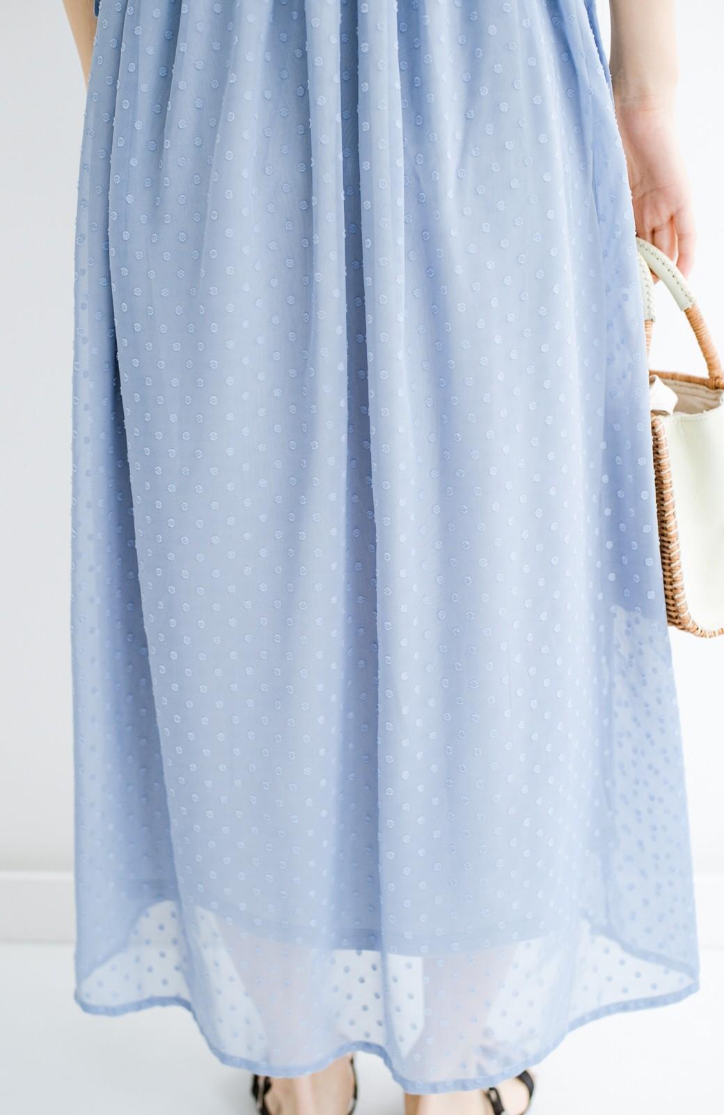 haco! (φ)普段にもちょっとしたきちんとシーンにも!着まわし上手になれるドビードットジャンパースカート <グレイッシュブルー>の商品写真13
