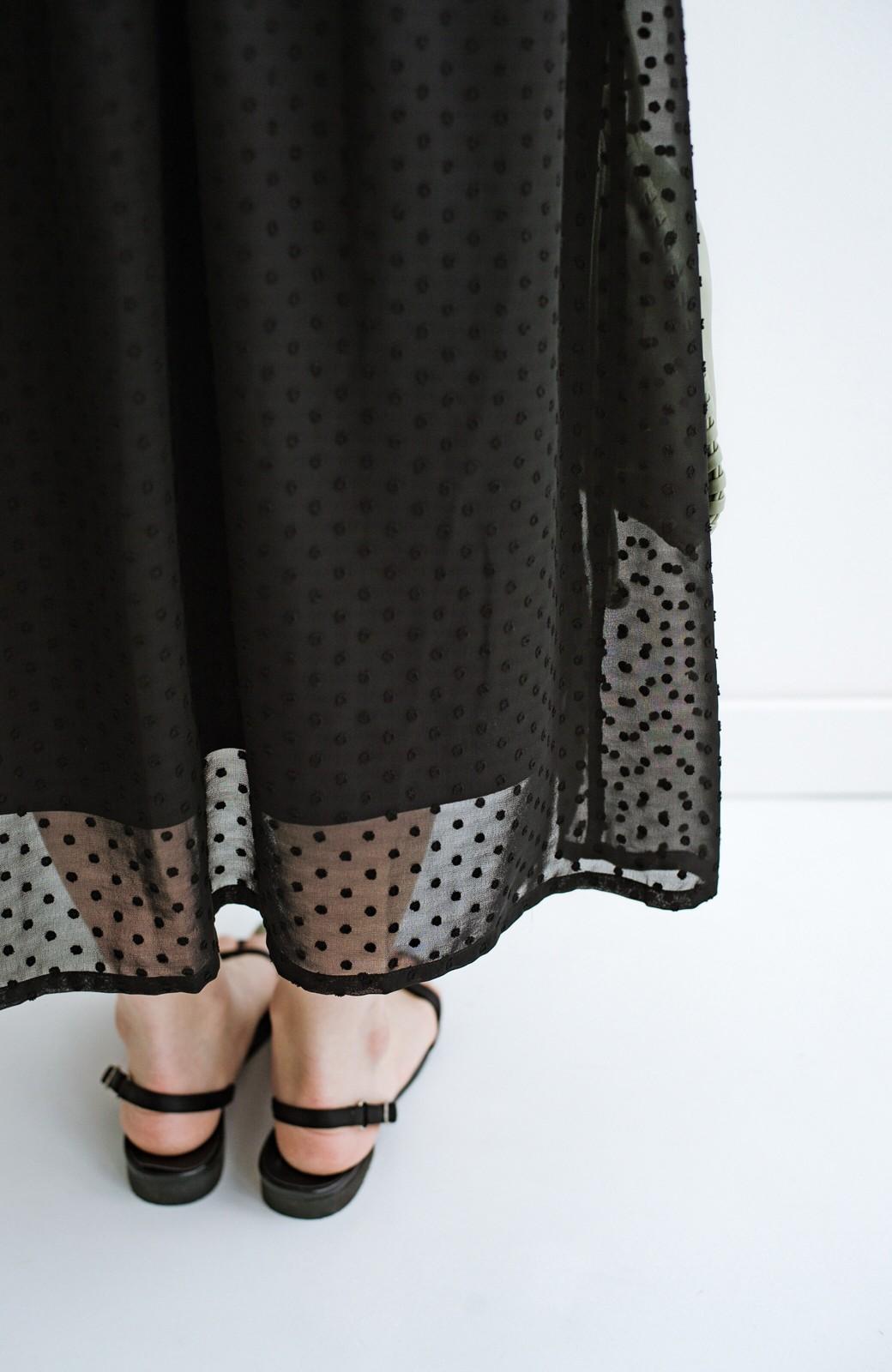 haco! (φ)普段にもちょっとしたきちんとシーンにも!着まわし上手になれるドビードットジャンパースカート <ブラック>の商品写真27