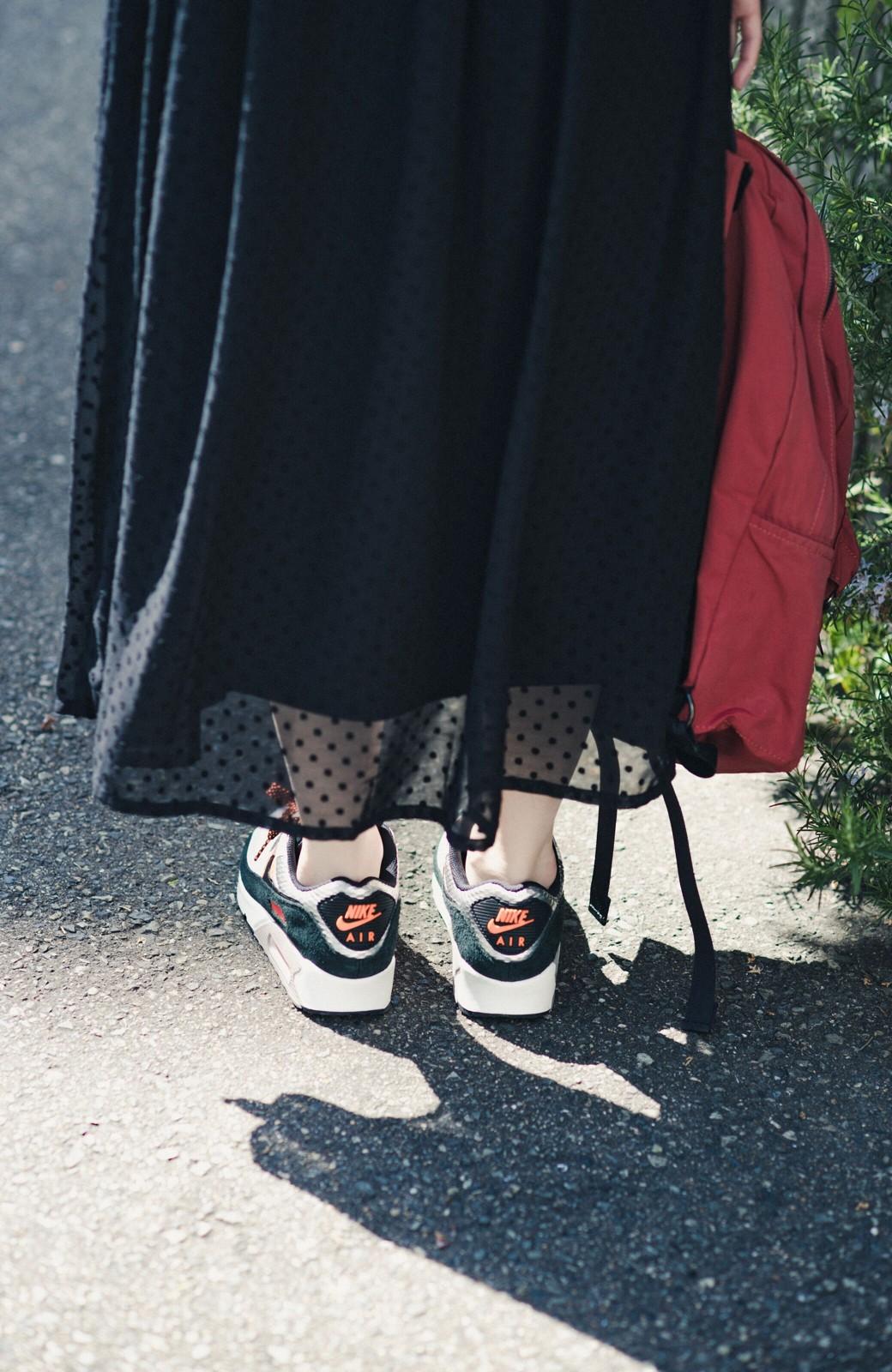 haco! (φ)普段にもちょっとしたきちんとシーンにも!着まわし上手になれるドビードットジャンパースカート <ブラック>の商品写真22