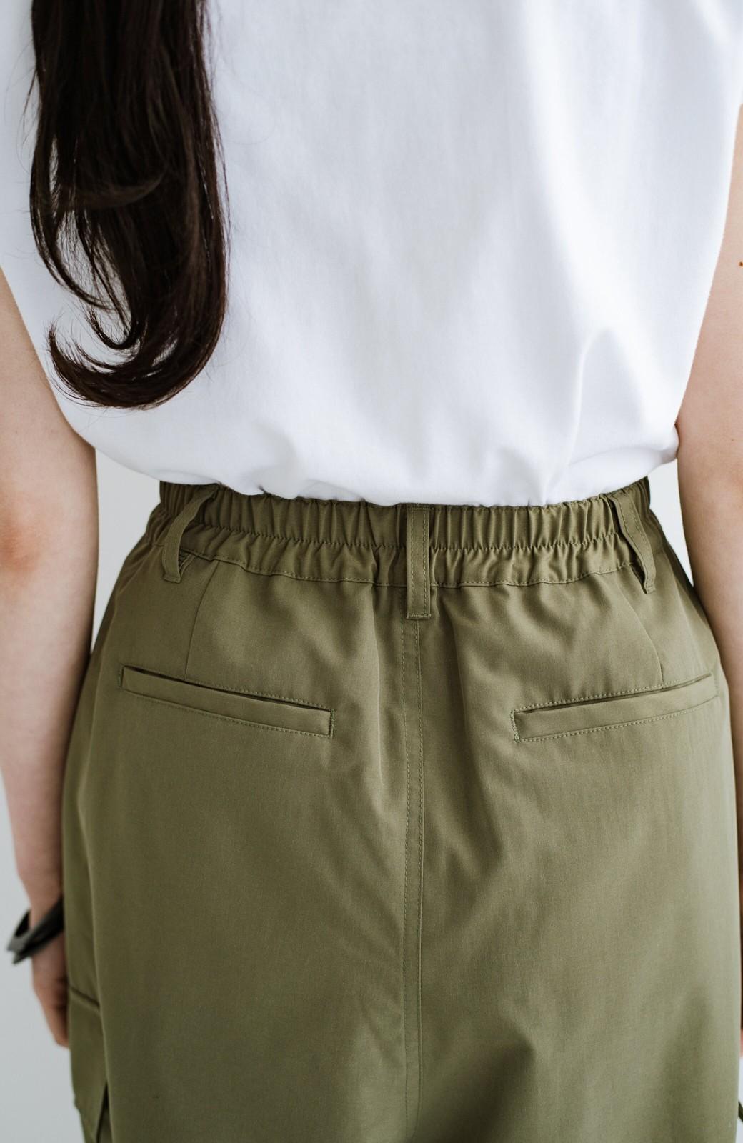 haco! Tシャツと合わせるだけでもサッときまる!楽ちんかっこいいゆるシルエットのカーゴパンツ <カーキ>の商品写真6
