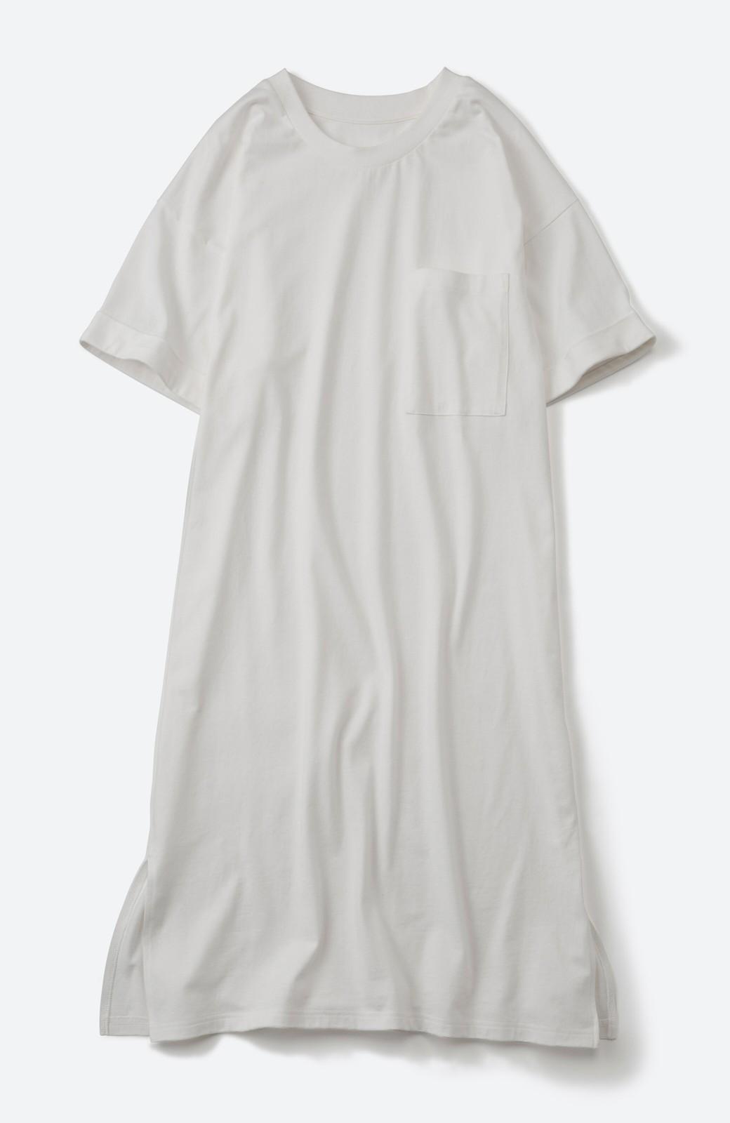 haco! 定番重ね着コーデを今っぽくアップデートできちゃう Tシャツワンピースとソフトチュールレギンスセット <オフホワイト>の商品写真22