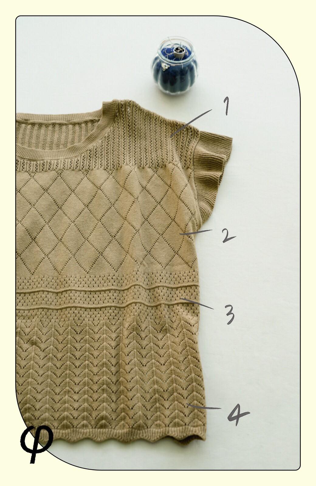 haco! (φ)透けすぎないから安心して着られる 華やか透かし編みニットトップス <カーキブラウン>の商品写真2
