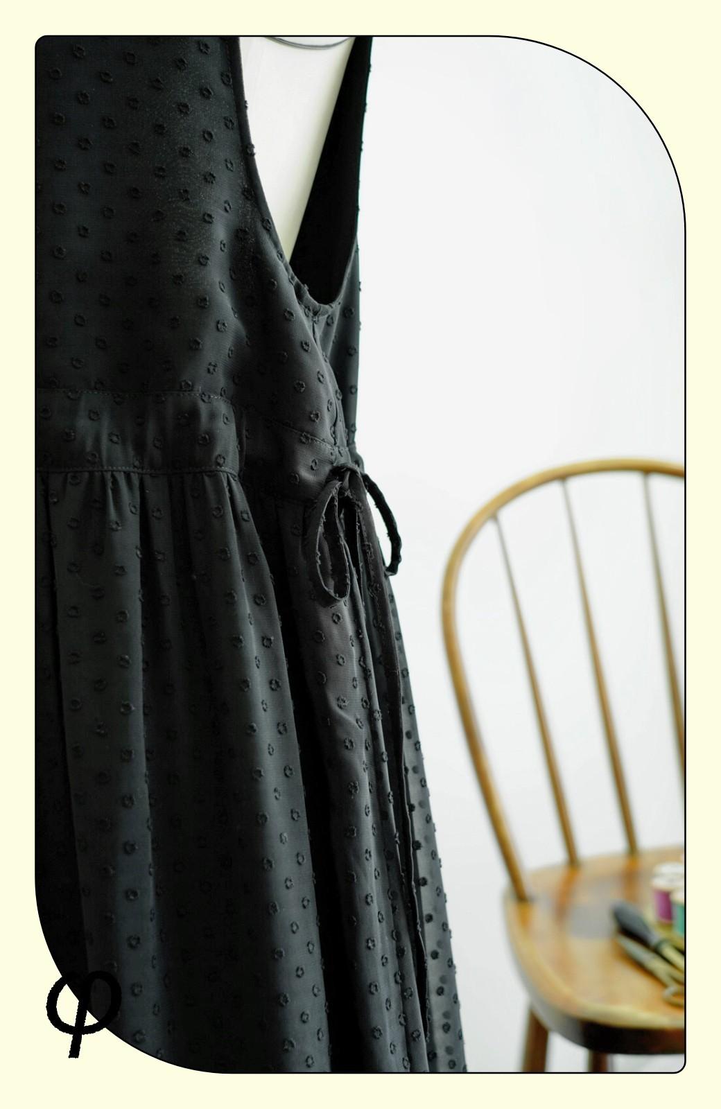 haco! (φ)普段にもちょっとしたきちんとシーンにも!着まわし上手になれるドビードットジャンパースカート <グレイッシュブルー>の商品写真3