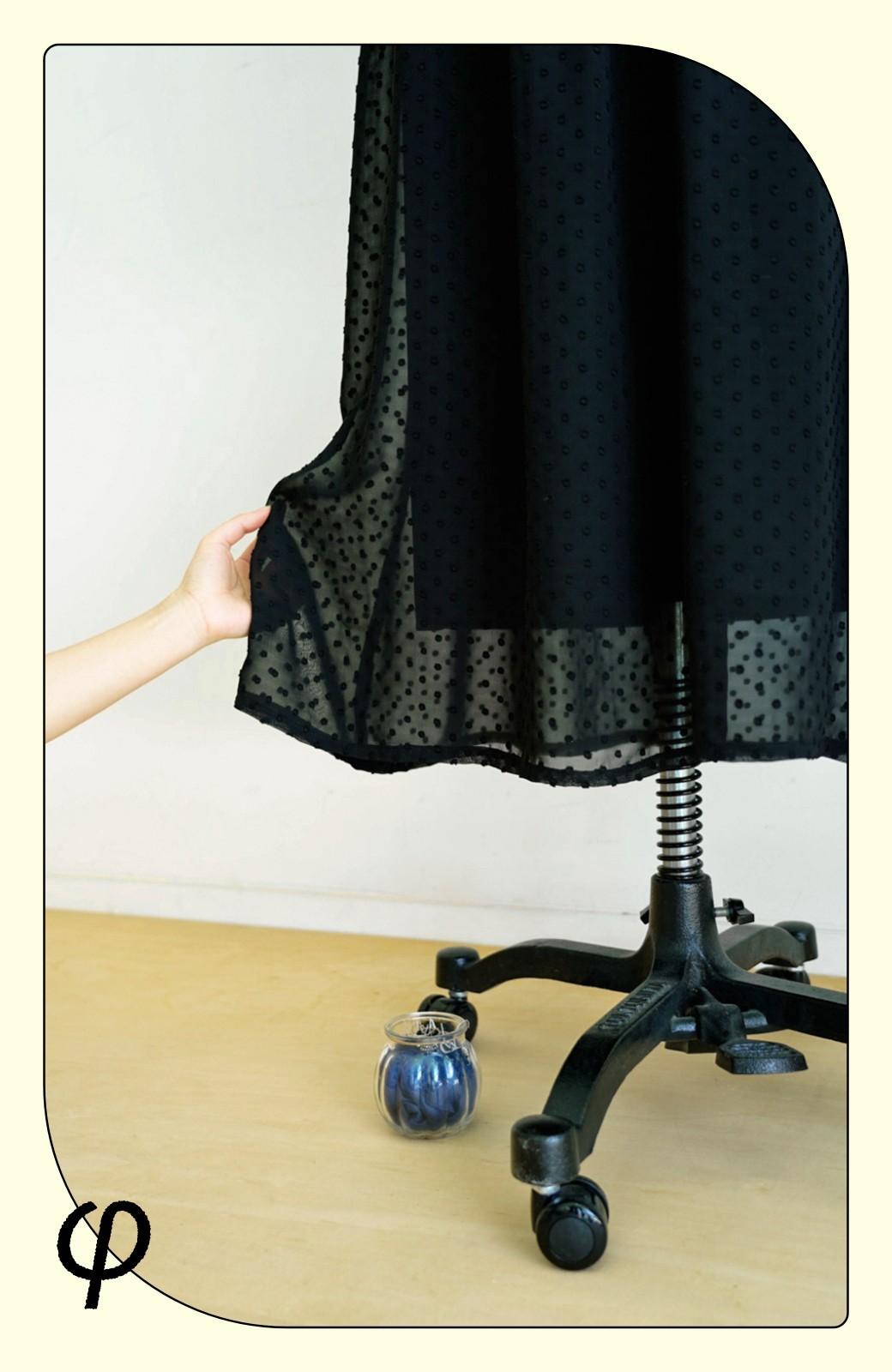 haco! (φ)普段にもちょっとしたきちんとシーンにも!着まわし上手になれるドビードットジャンパースカート <ブラック>の商品写真4