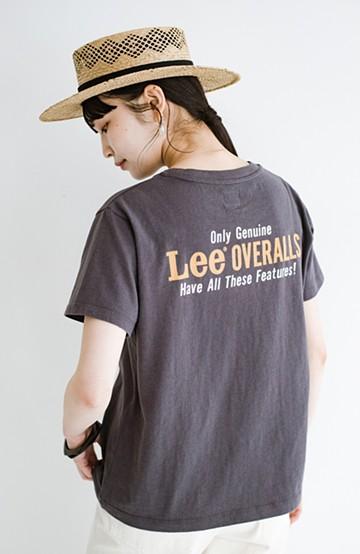 haco! LadyLee 古着のような風合いがかっこいい デニムにもスカートにも似合うロゴプリントTシャツ<ブラック>の商品写真