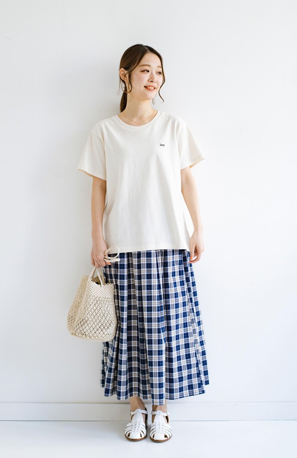 haco! LadyLee 古着のような風合いがかっこいい デニムにもスカートにも似合うロゴプリントTシャツ <アイボリー>の商品写真6