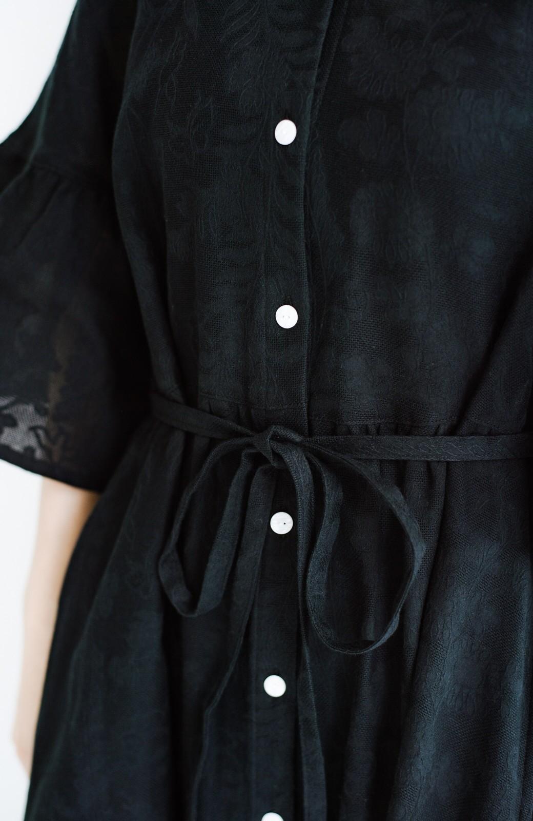 haco! 京都の浴衣屋さんと作った浴衣生地の羽織りにもなるワンピース <ブラック>の商品写真9