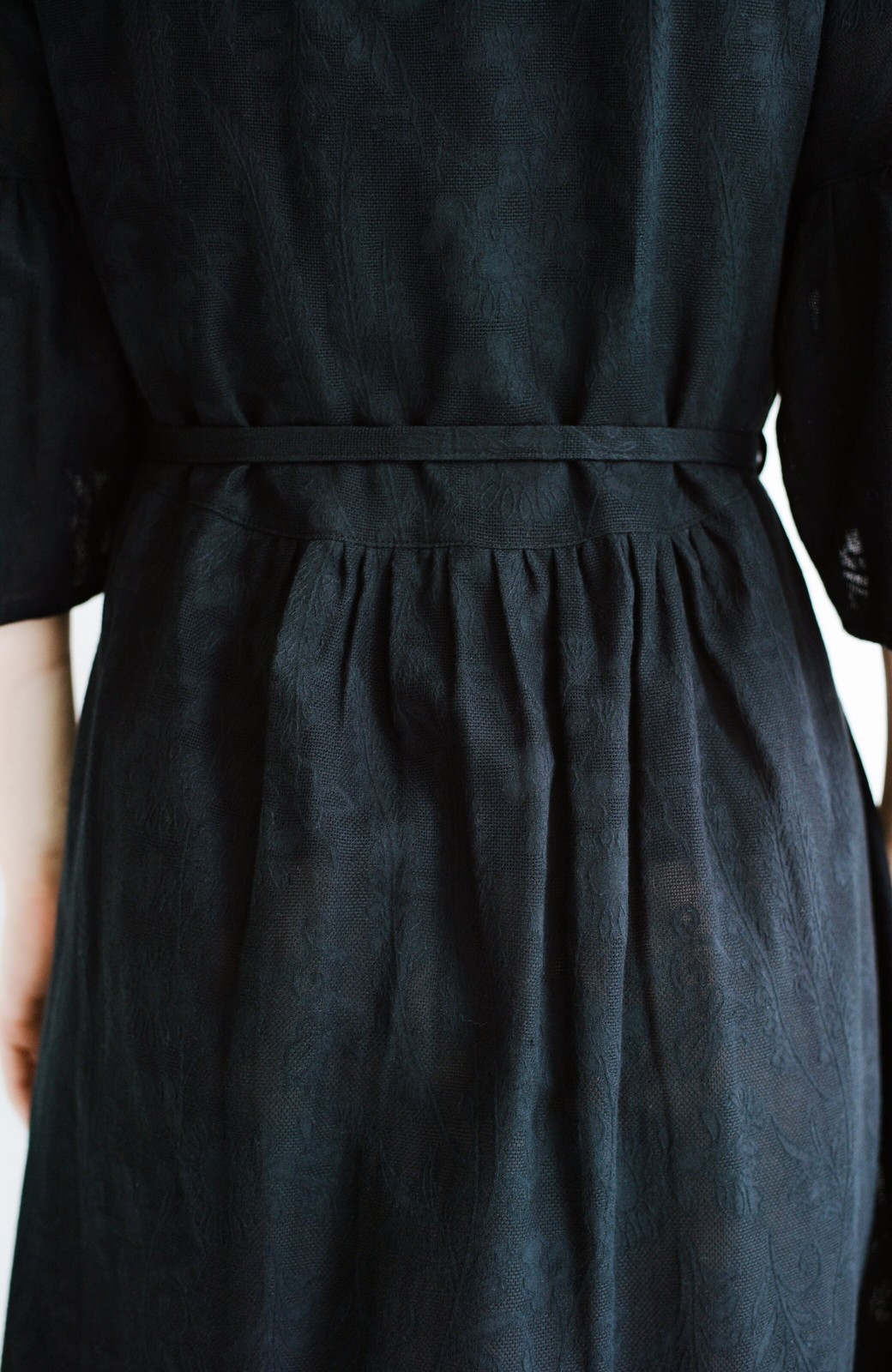 haco! 京都の浴衣屋さんと作った浴衣生地の羽織りにもなるワンピース <ブラック>の商品写真10