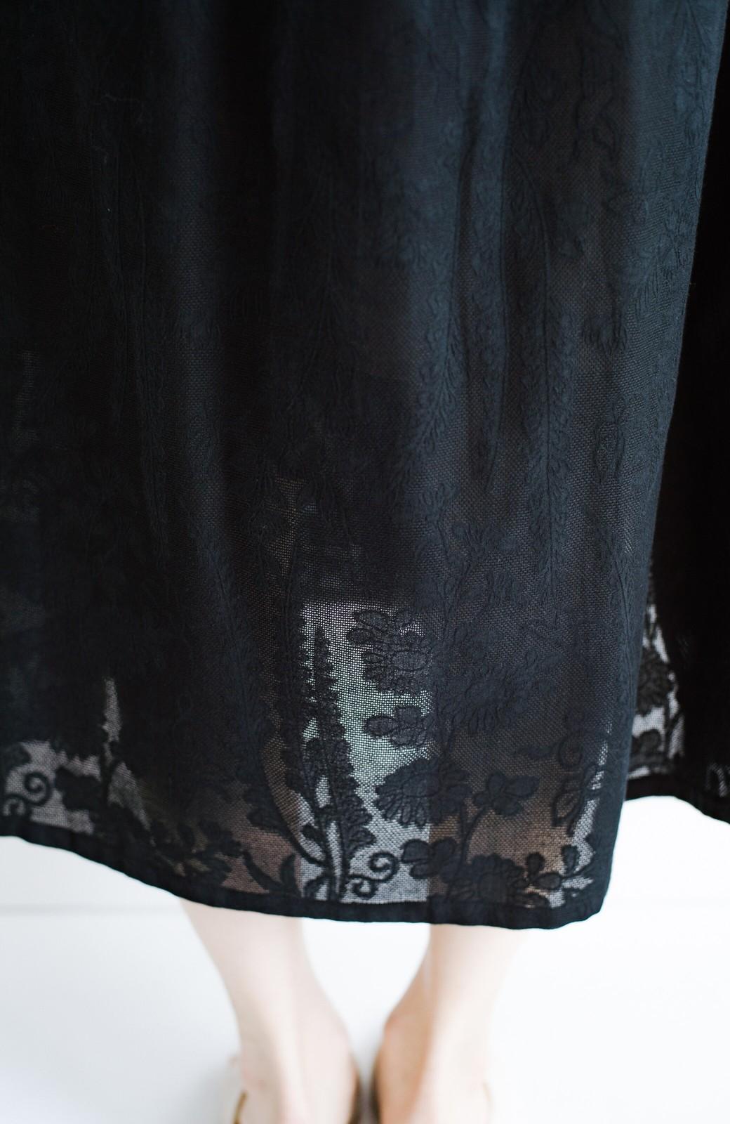 haco! 京都の浴衣屋さんと作った浴衣生地の羽織りにもなるワンピース <ブラック>の商品写真12