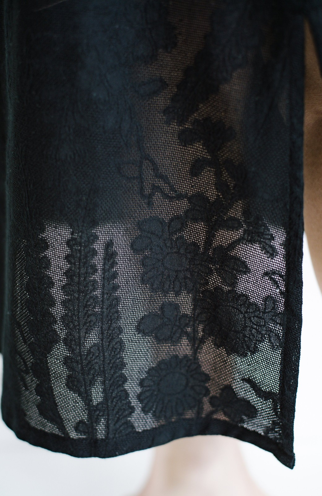haco! 京都の浴衣屋さんと作った浴衣生地の羽織りにもなるワンピース <ブラック>の商品写真13