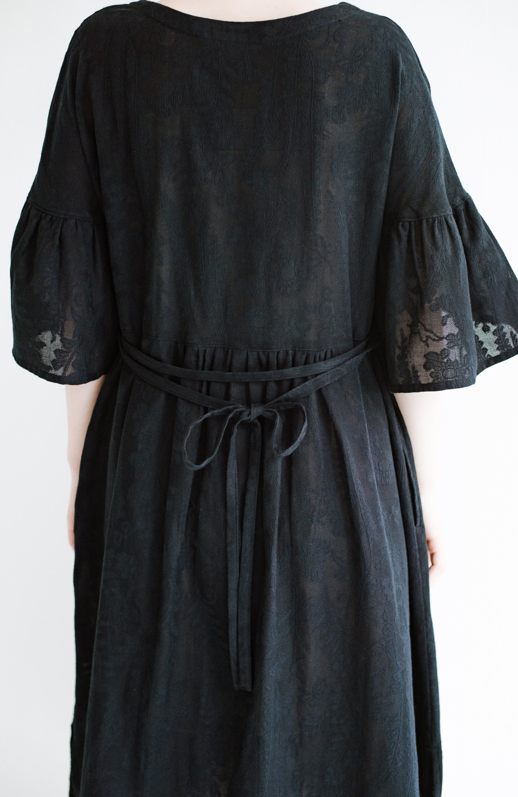 haco! 京都の浴衣屋さんと作った浴衣生地の羽織りにもなるワンピース <ブラック>の商品写真14