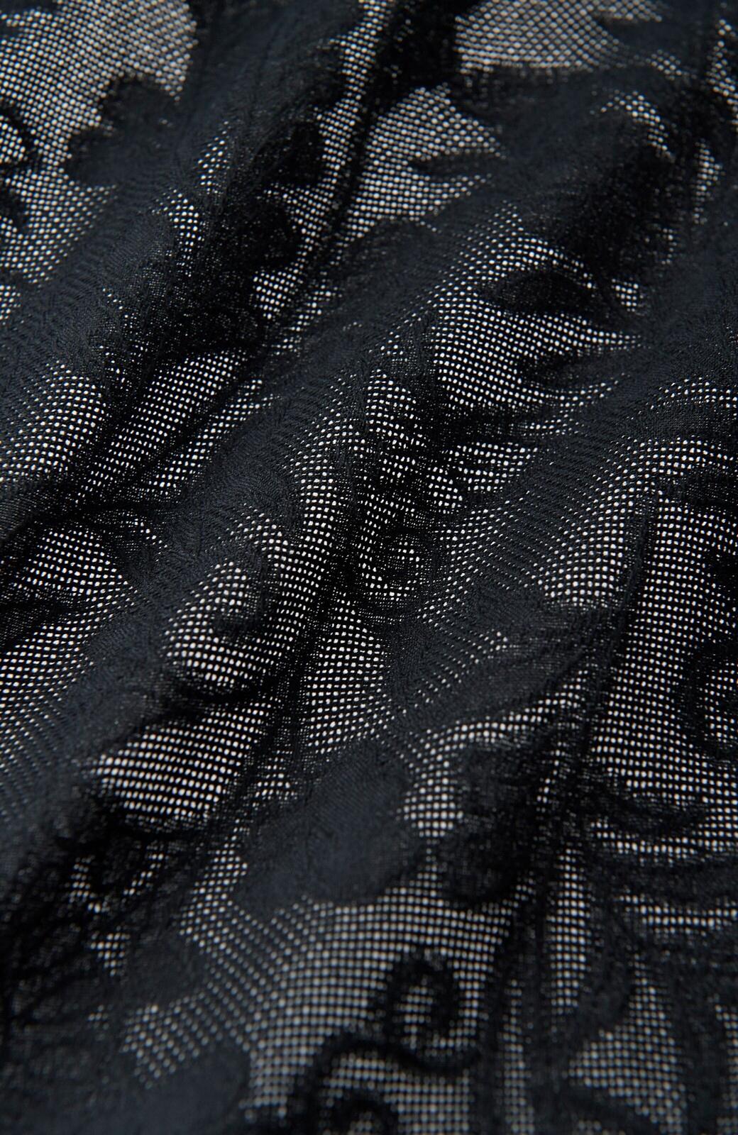 haco! 京都の浴衣屋さんと作った浴衣生地の羽織りにもなるワンピース <ブラック>の商品写真4