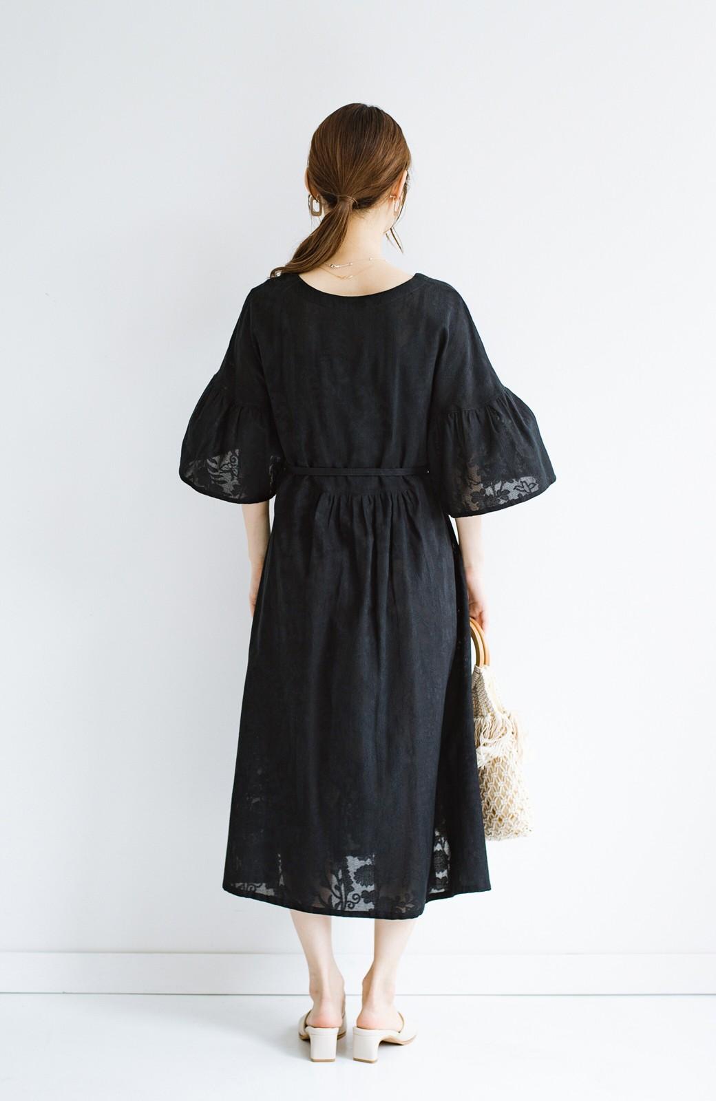 haco! 京都の浴衣屋さんと作った浴衣生地の羽織りにもなるワンピース <ブラック>の商品写真26