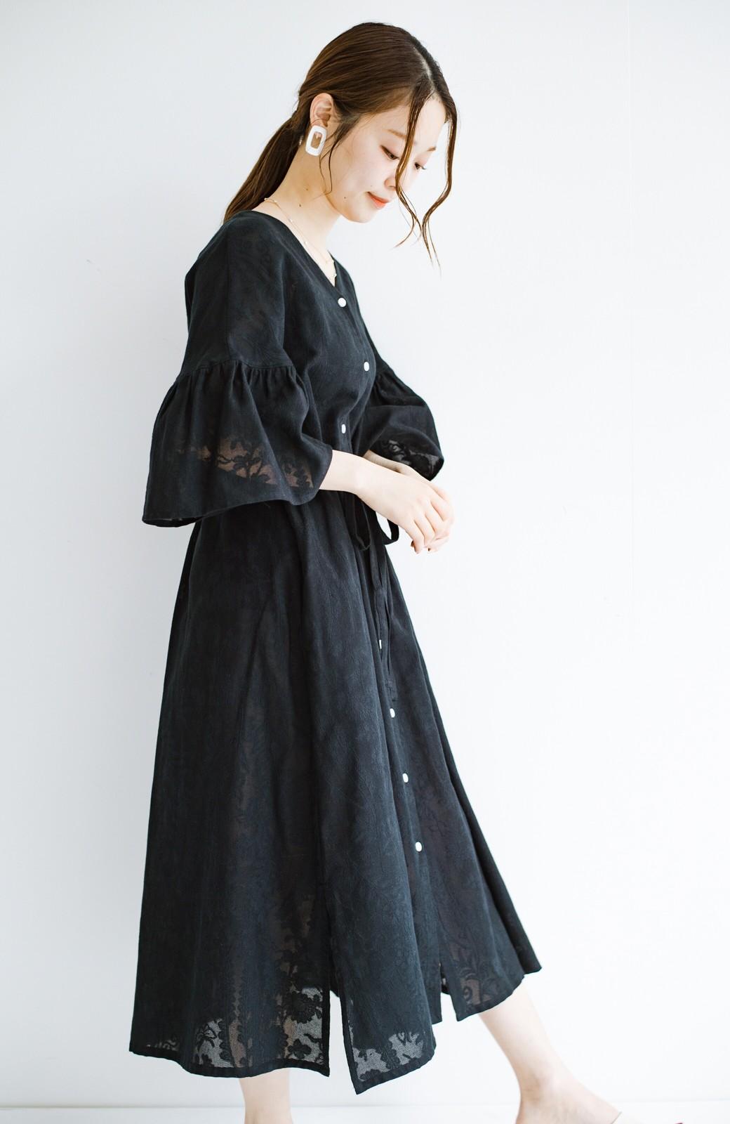 haco! 京都の浴衣屋さんと作った浴衣生地の羽織りにもなるワンピース <ブラック>の商品写真28